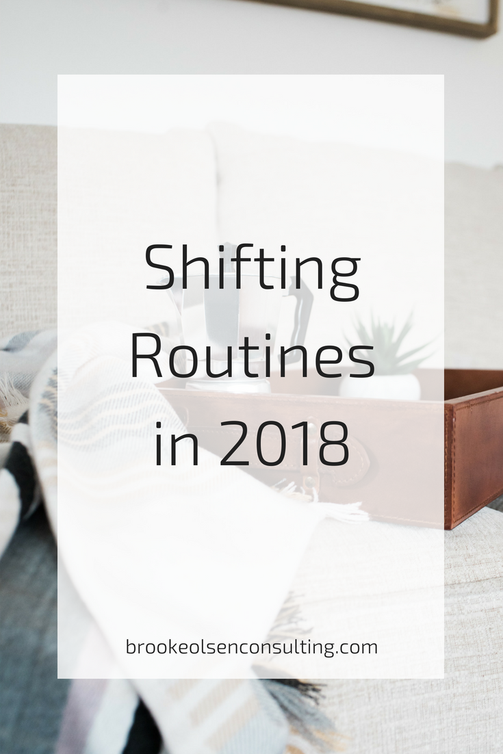 Creating routines and shifting habits in business for the new year. Click through to get all the best tips! | Brooke Olsen Consulting