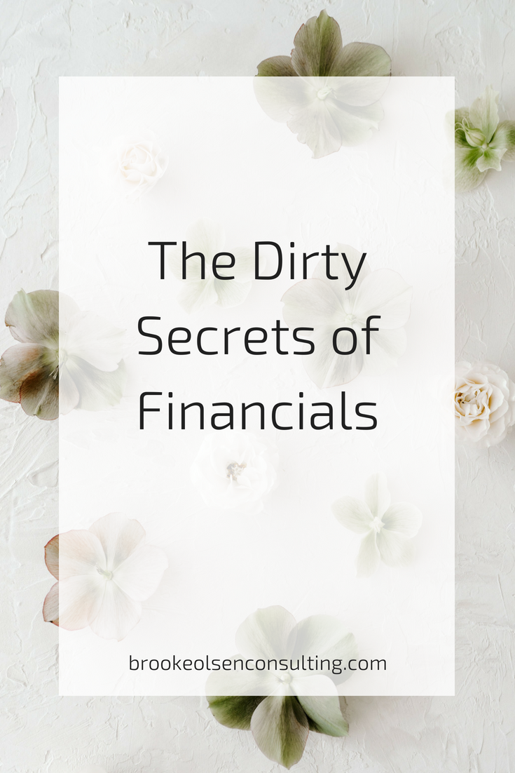 The Dirty Secrets of Financials and Spending Money | Brooke Olsen Consulting