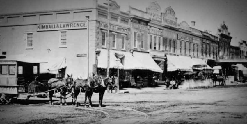 Summer 1872: Lumber mules from Missouri first pulled to trolley cars.