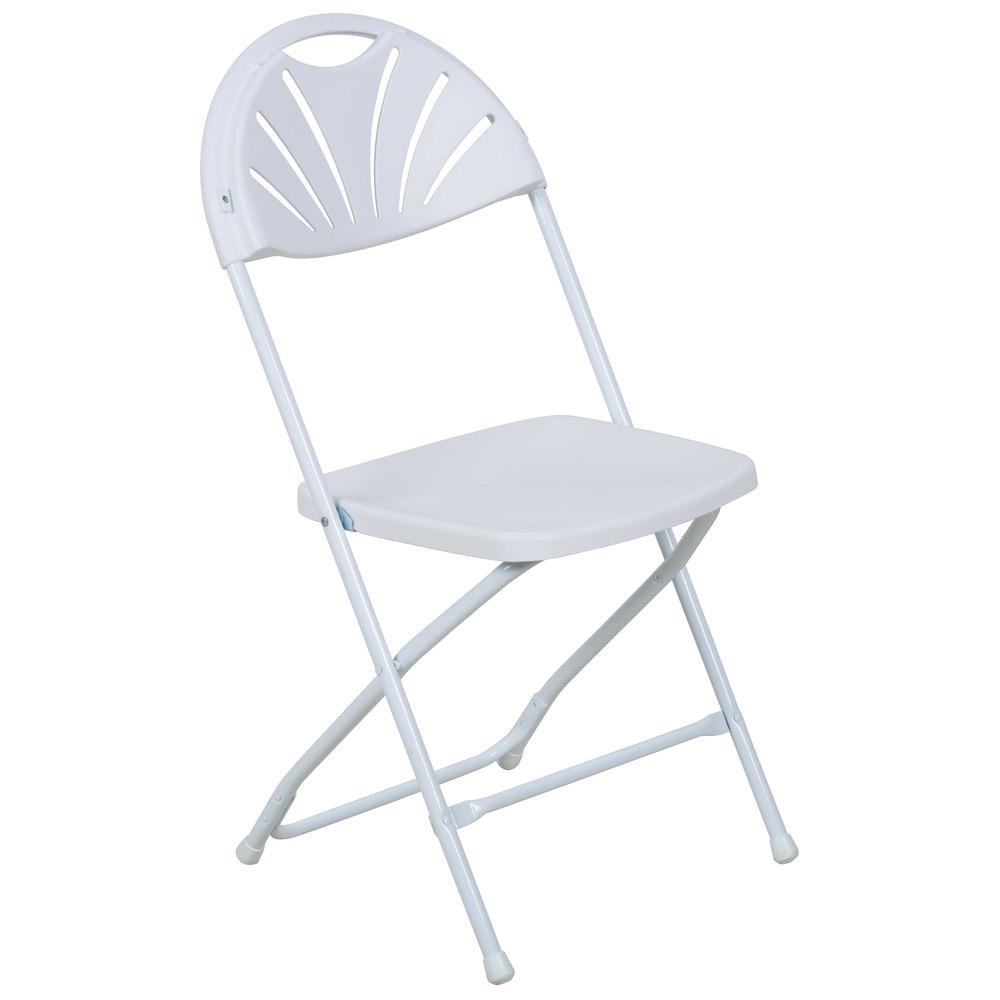 White Fan Chair - $1.75 each
