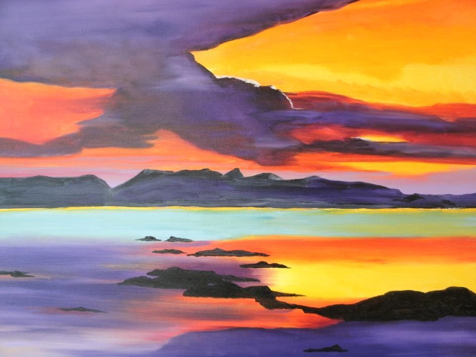 Sunset Over Skye | Oil, SOLD