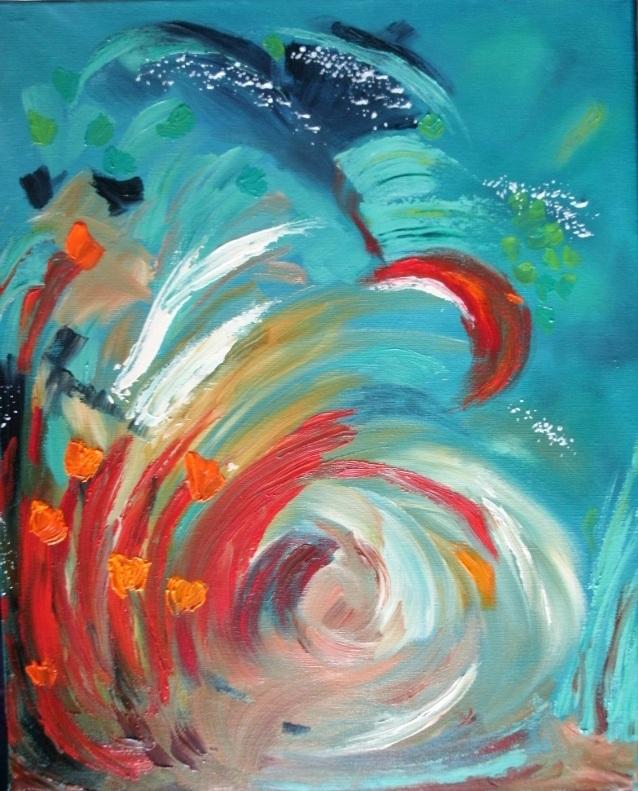 Wildflower Wind | Acrylic, SOLD