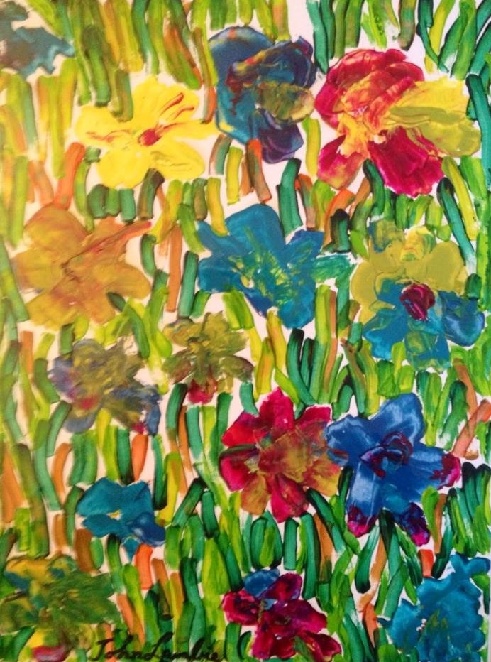 Floral Stained Glass | Acrylic, SOLD