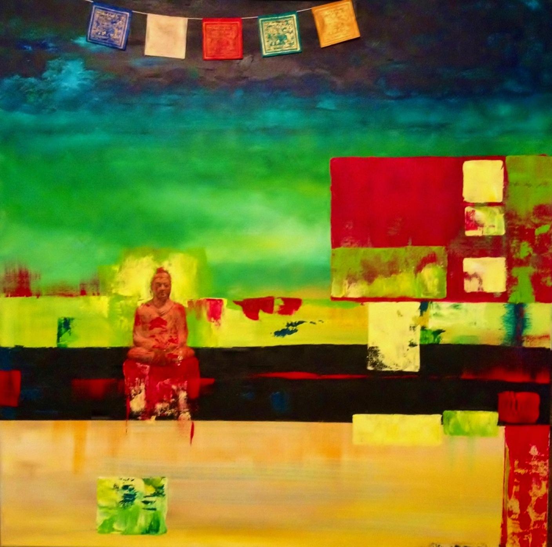 Buddah Prayer Flags | Acrylic