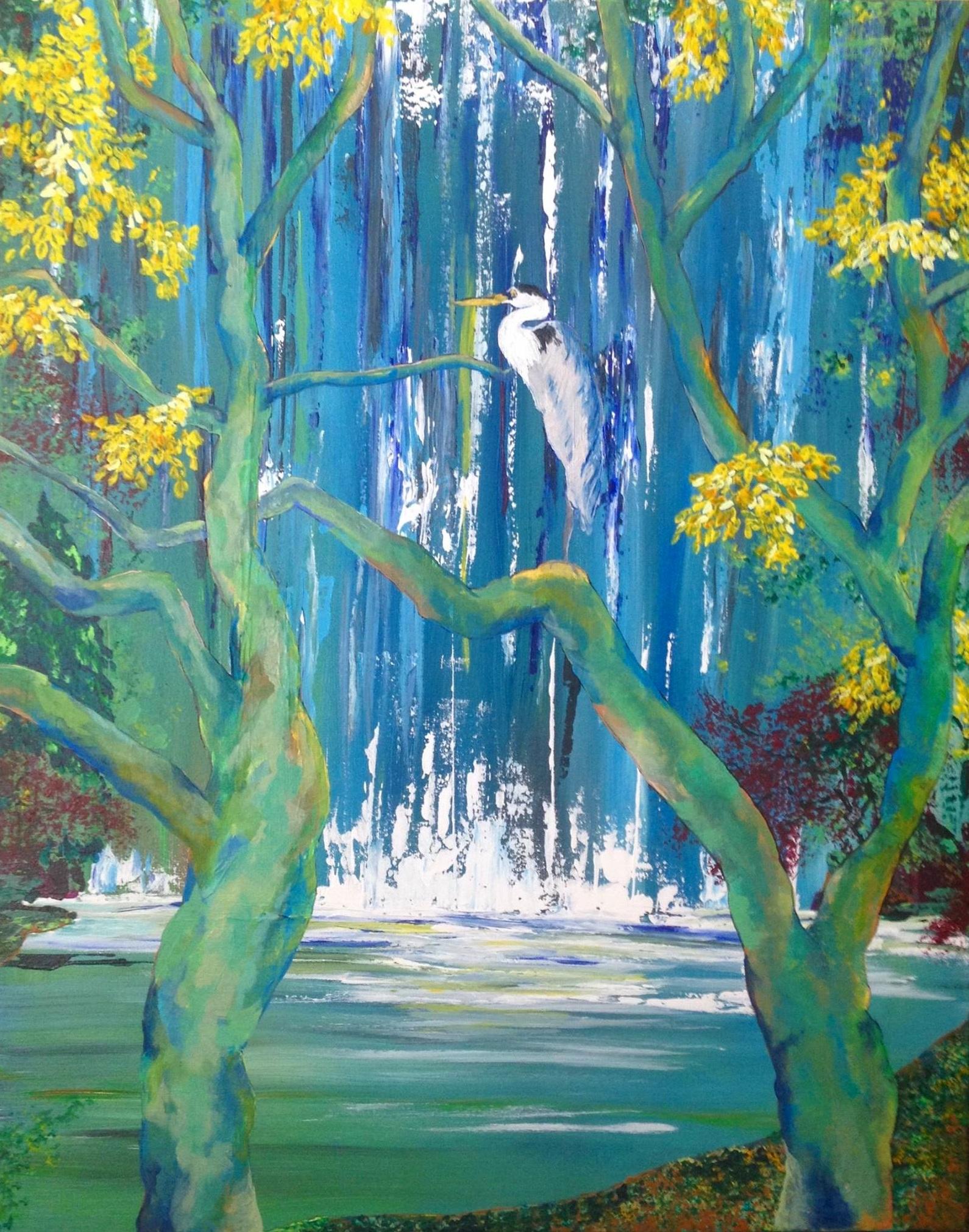 Ashland Heron | Acrylic, SOLD