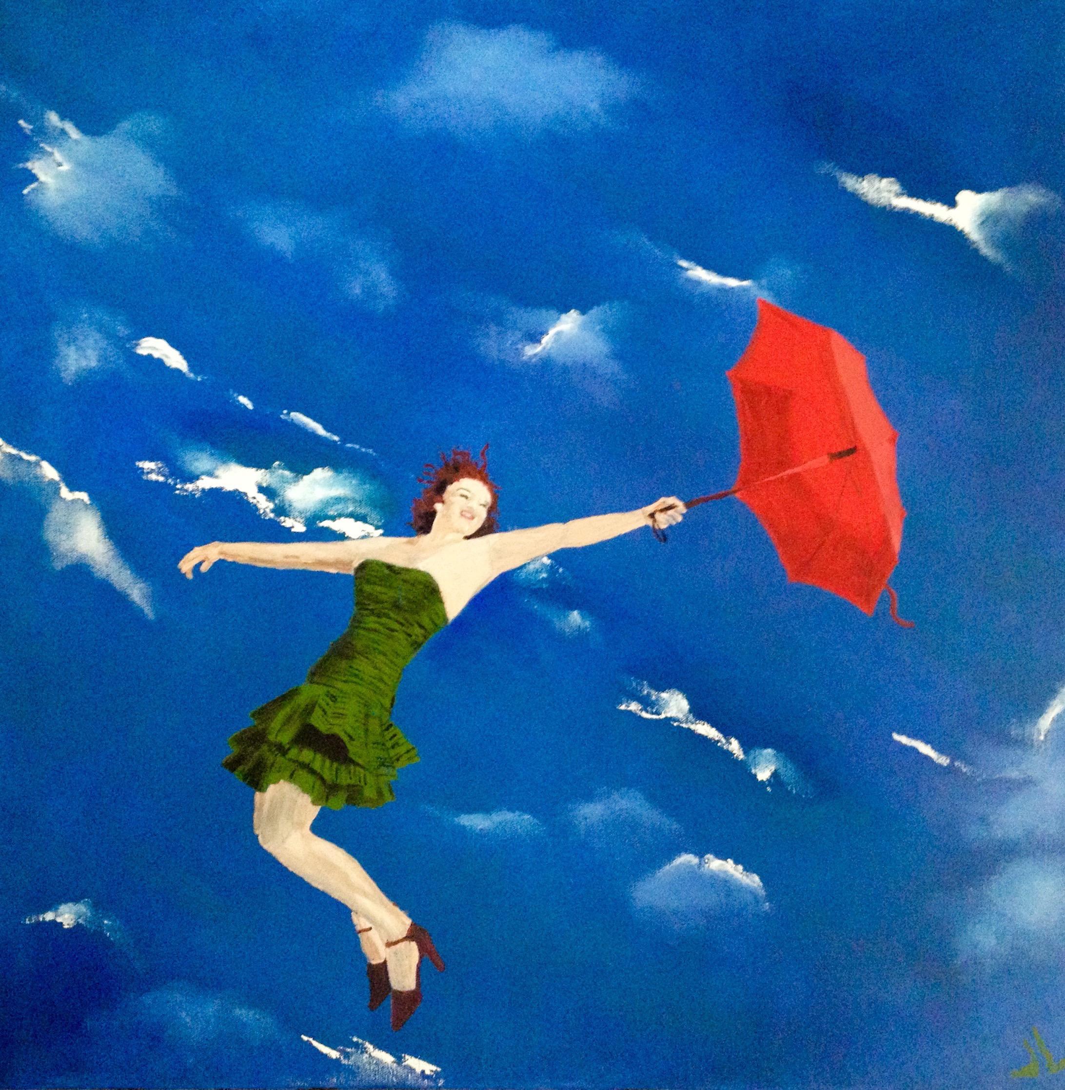 Red Umbrella | Acrylic, SOLD
