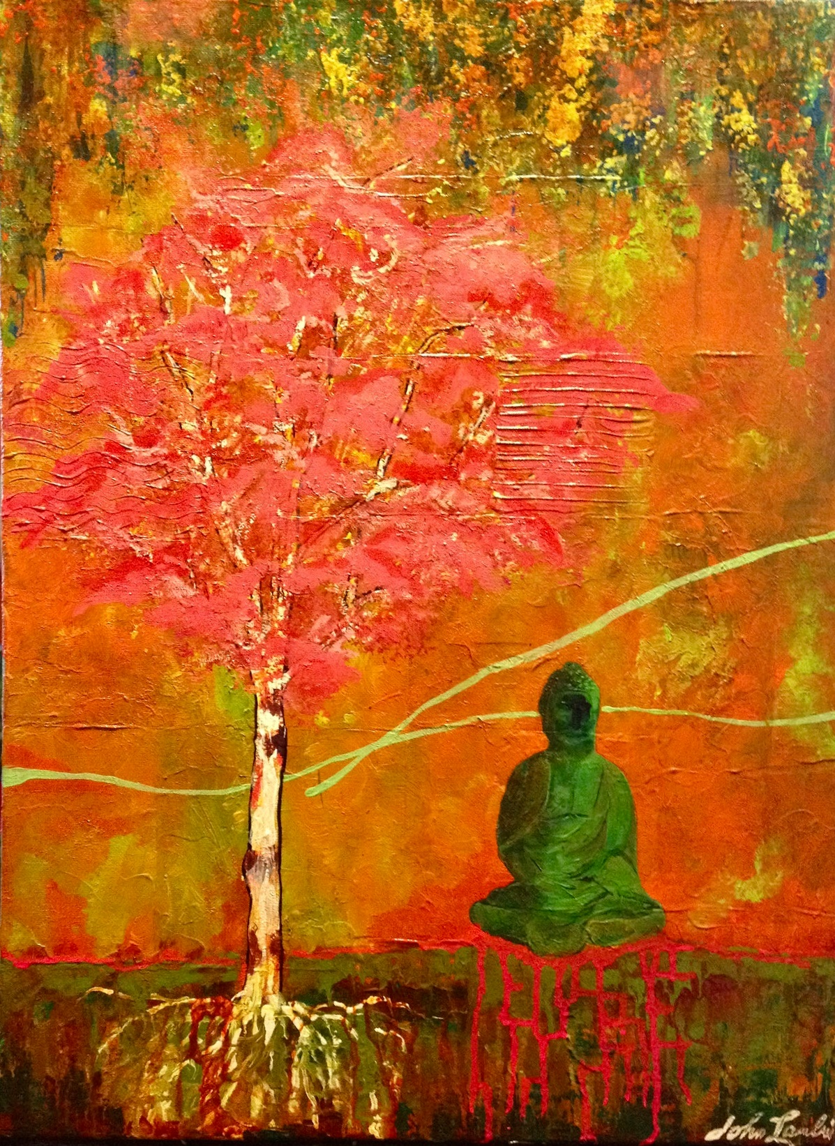 Buddah and The Tree of Life | Acrylic, SOLD