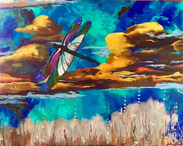 Dragonfly | Acrylic, SOLD