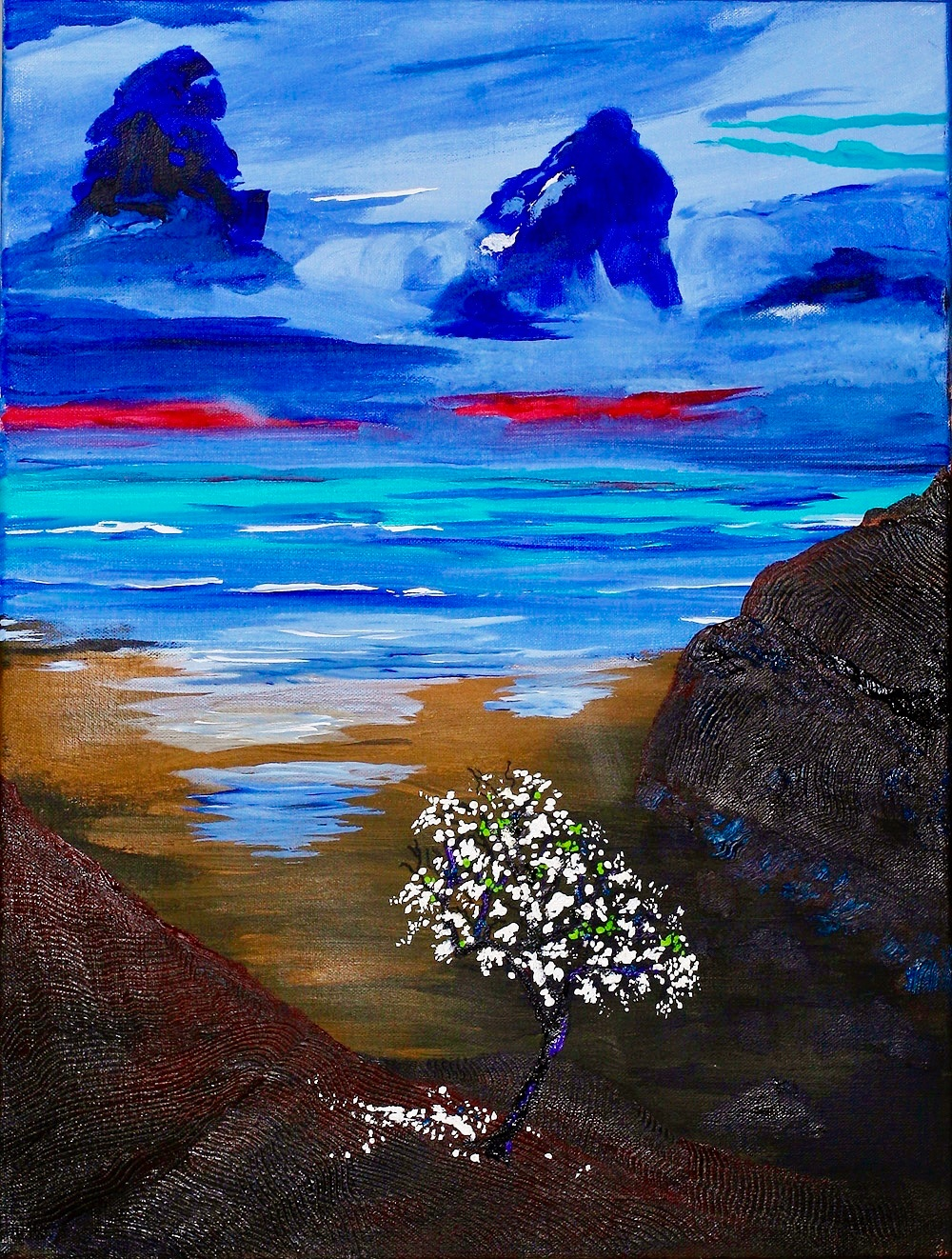 White Tree Cove | Acrylic, SOLD