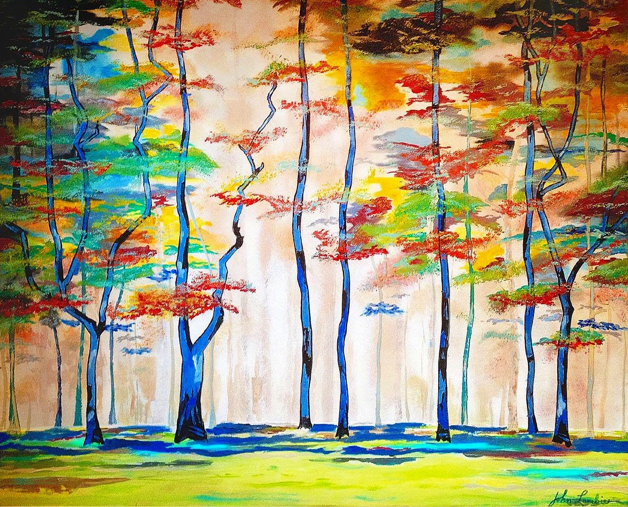 A Light In the Forest | Acrylic, SOLD