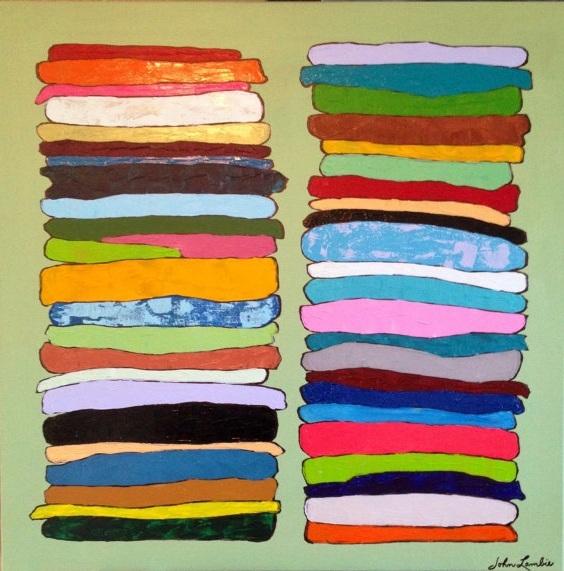 Tee Shirt Stacks | Acrylic, SOLD