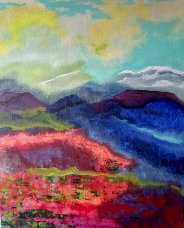 Fire On the Mountain | Acrylic, SOLD