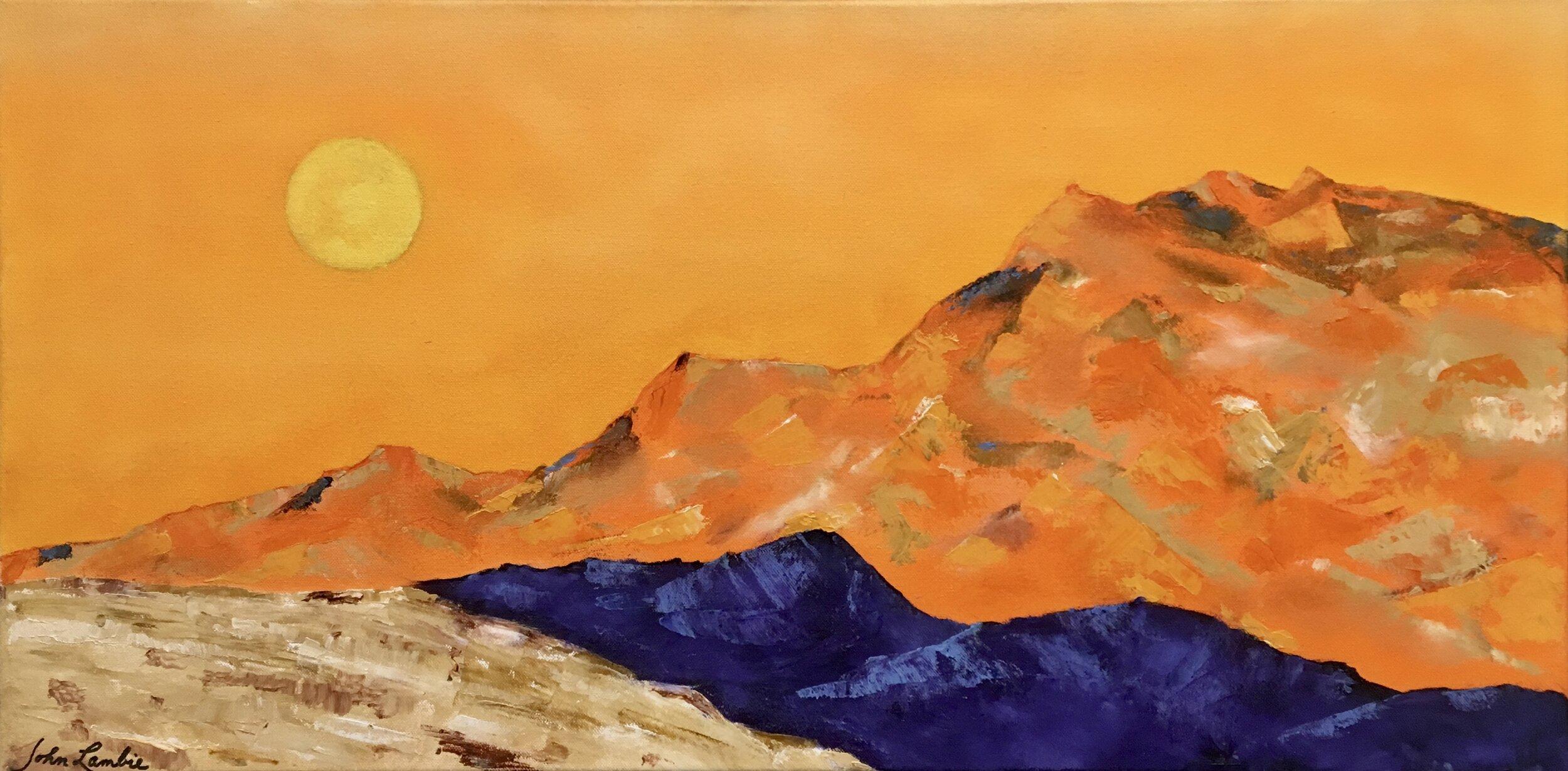 Desert Moon, Oil on Acrylic