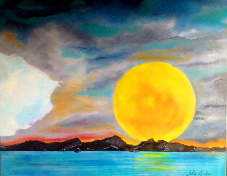 Moon Over Skye, Oil on Acrylic