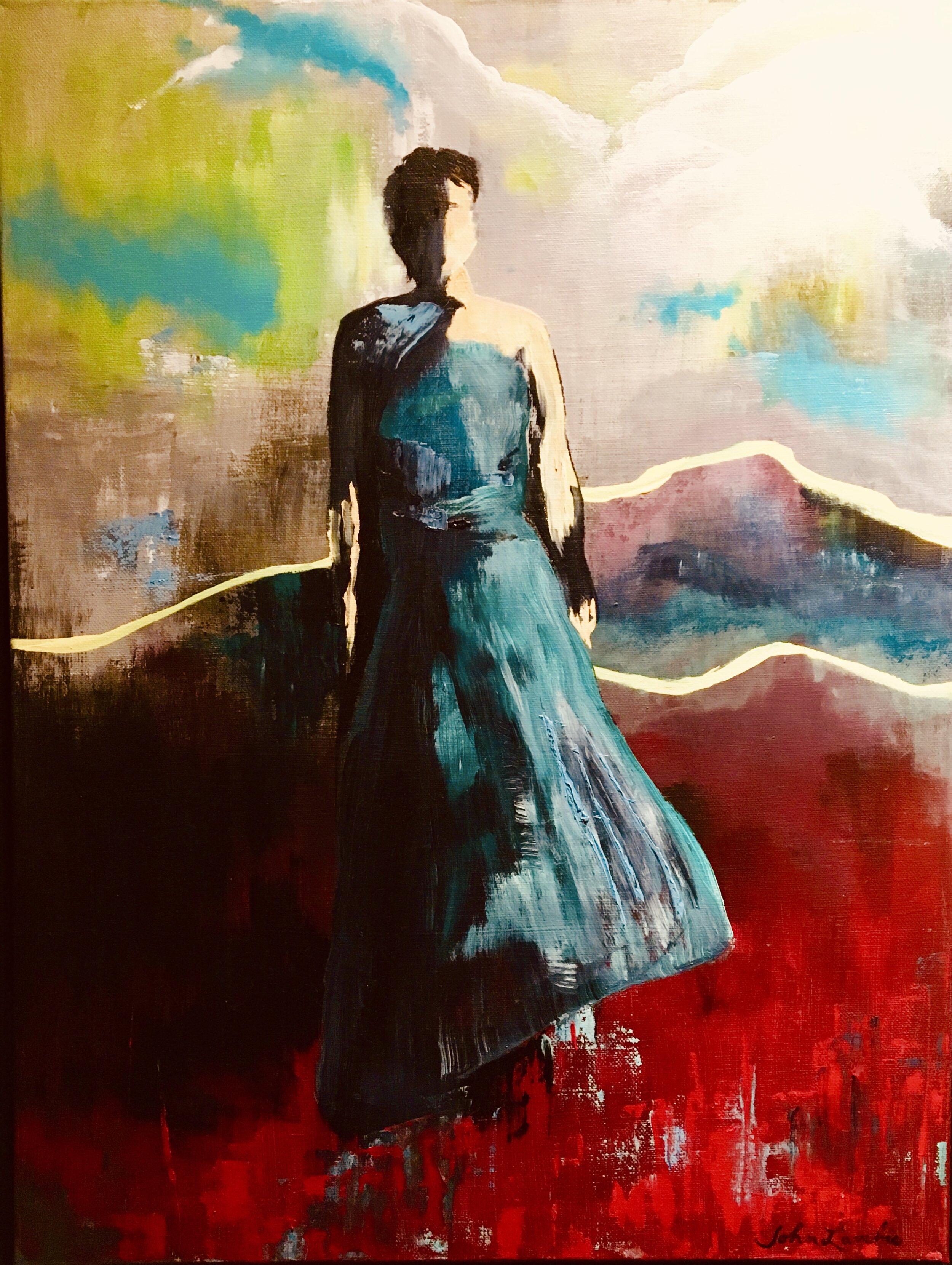 Sarah, Oil on Acrylic