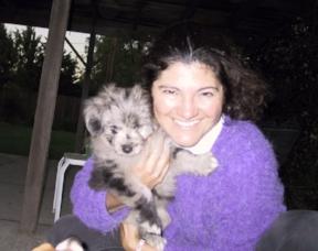 Cecelia & Flash, her puppy love