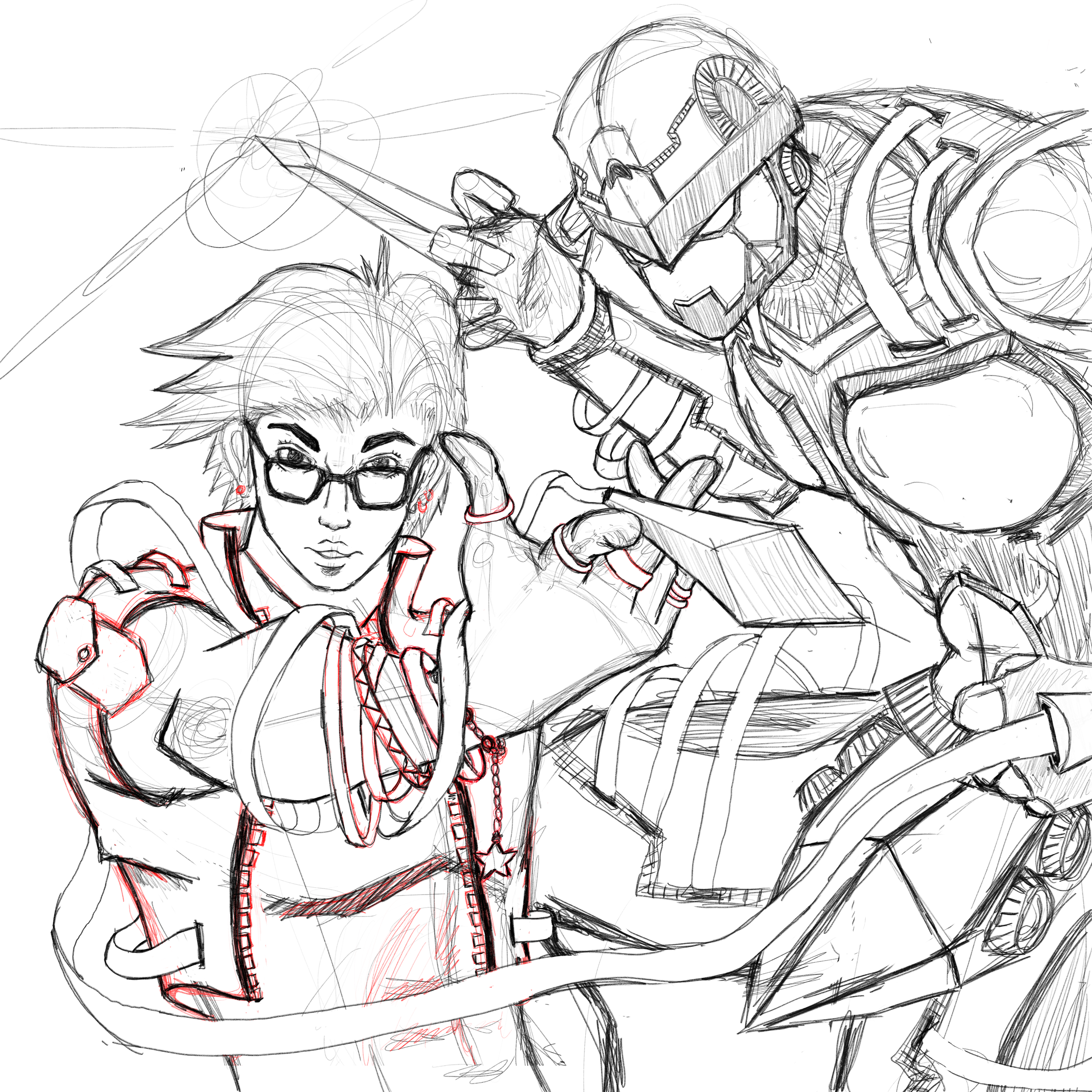 Ro and Chelsea Dagger - Sketch