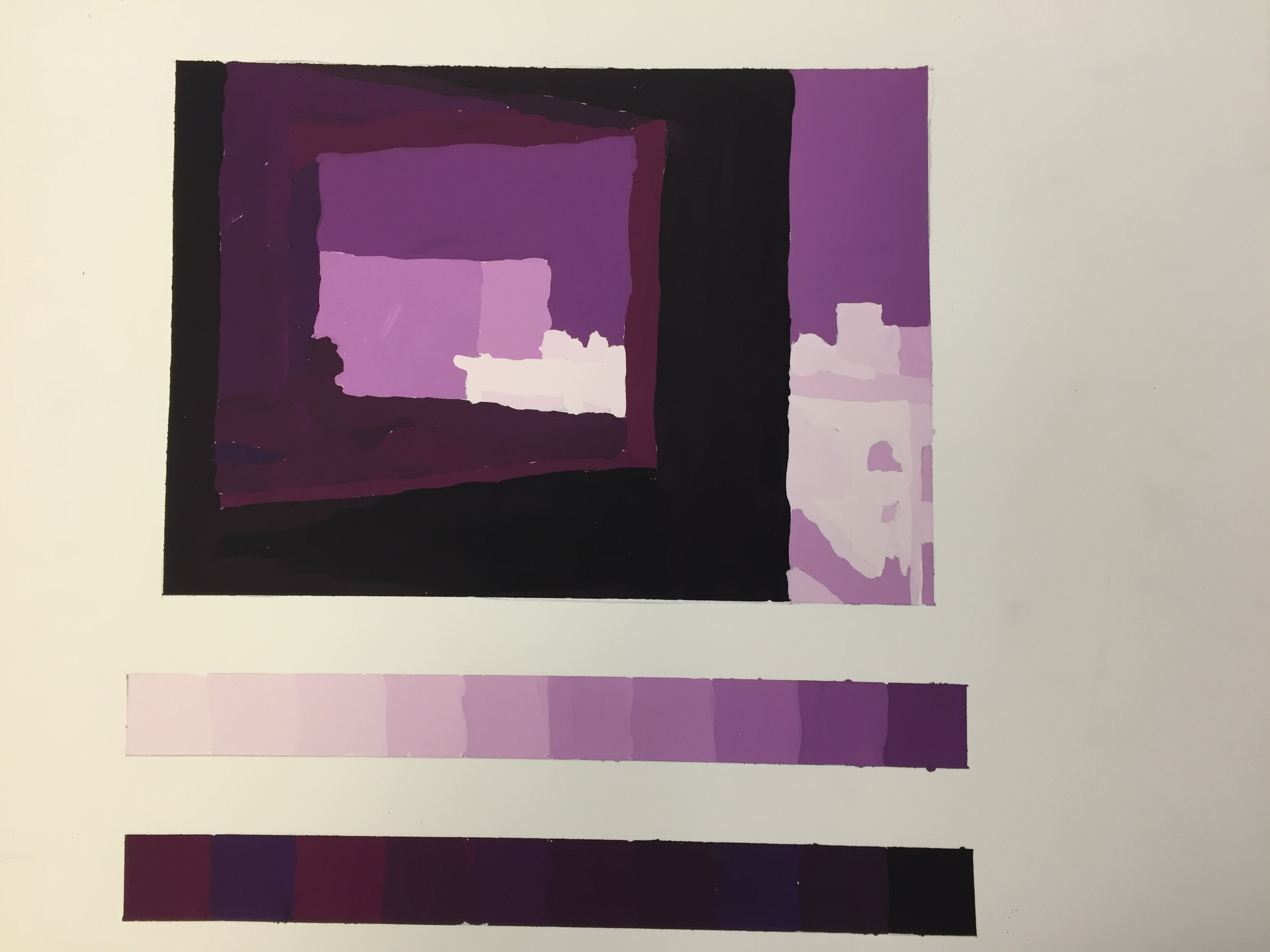Office in a Small City, Object Color (Purple) Deconstruction