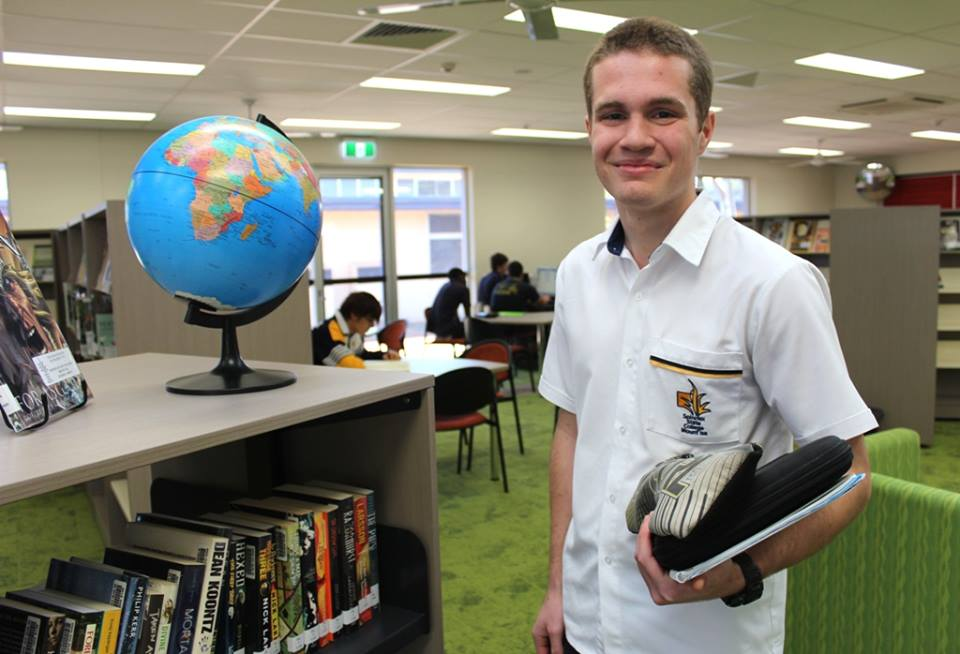 Aidan at Spinifex State College