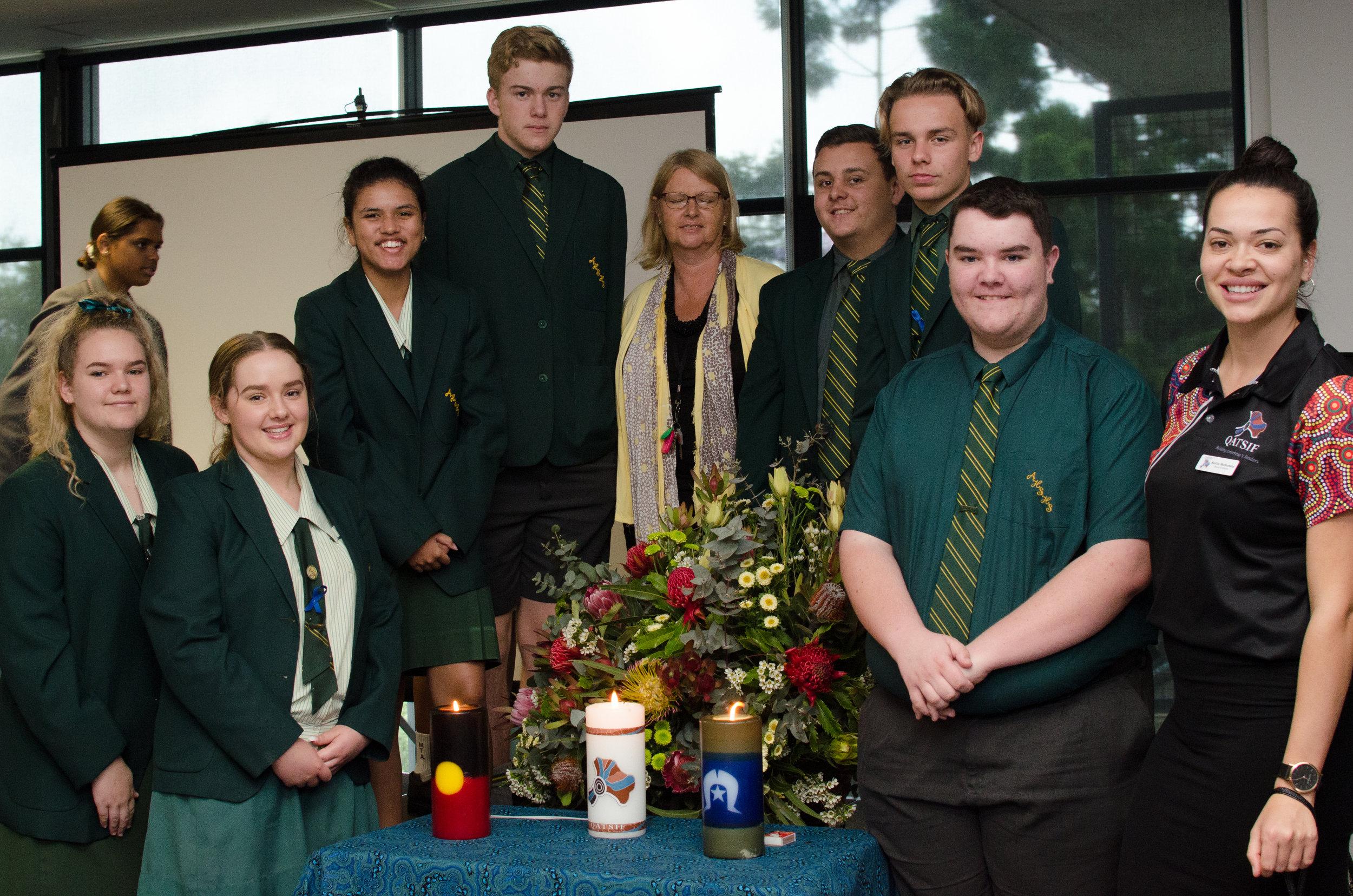 Alexandra Hills State High School graduates and staff