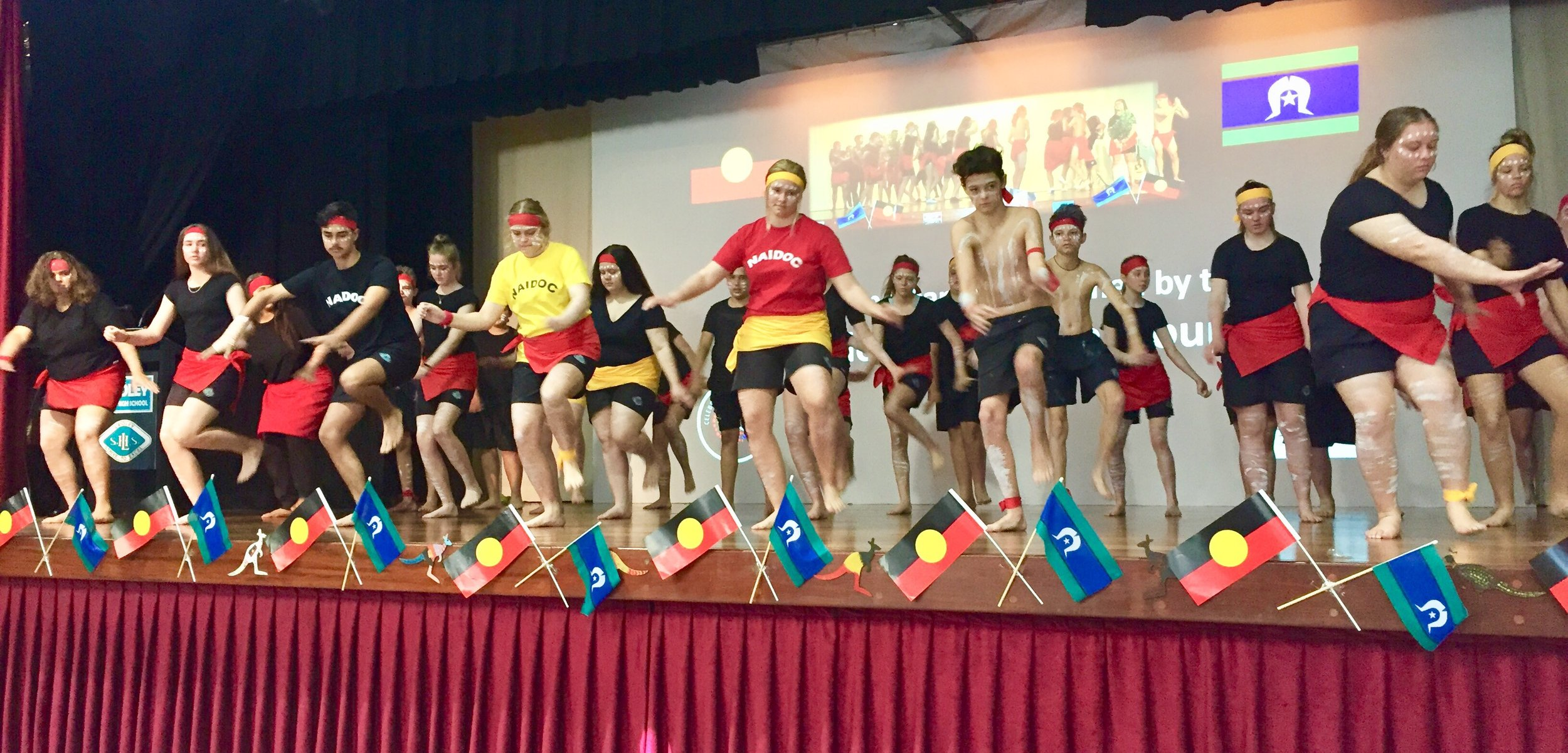 Laidley SHS dancers at their 2018 NAIDOC Celebrations