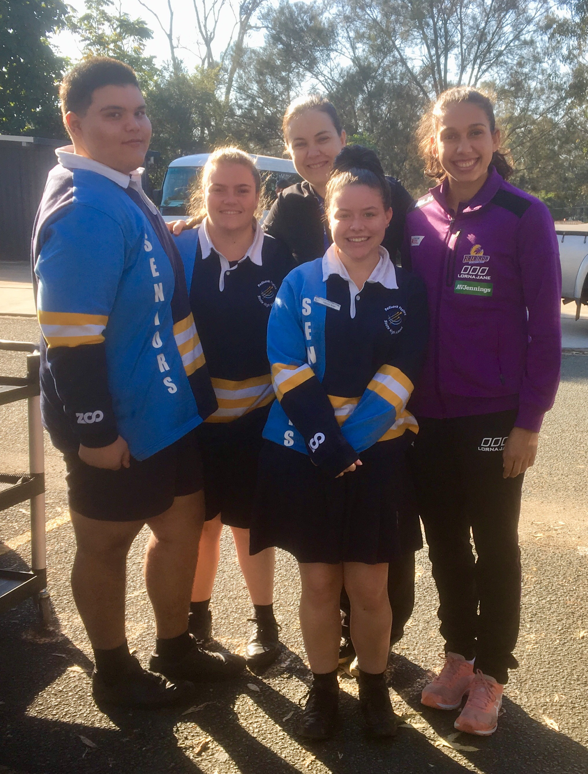 Jemma with Redbank SHS students