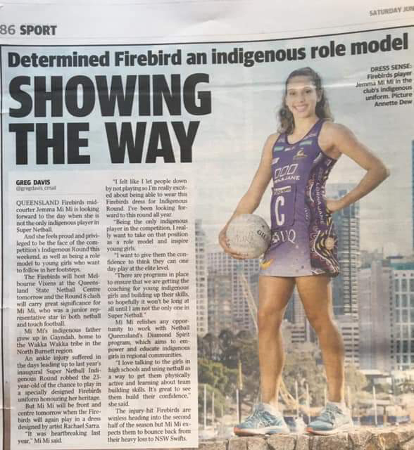 Courier Mail article on Jemma's incredible role modelling.