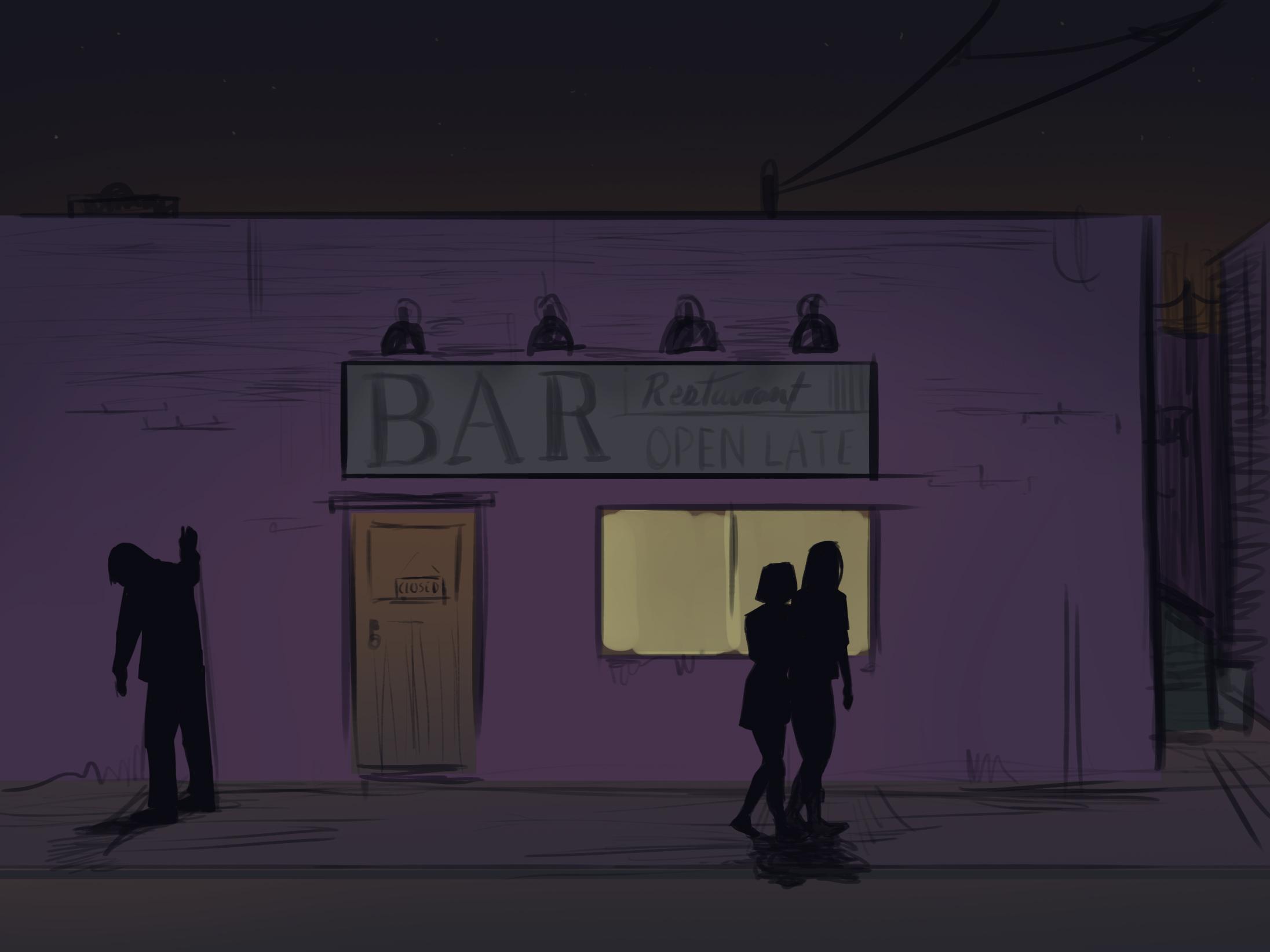 Outside the Bar