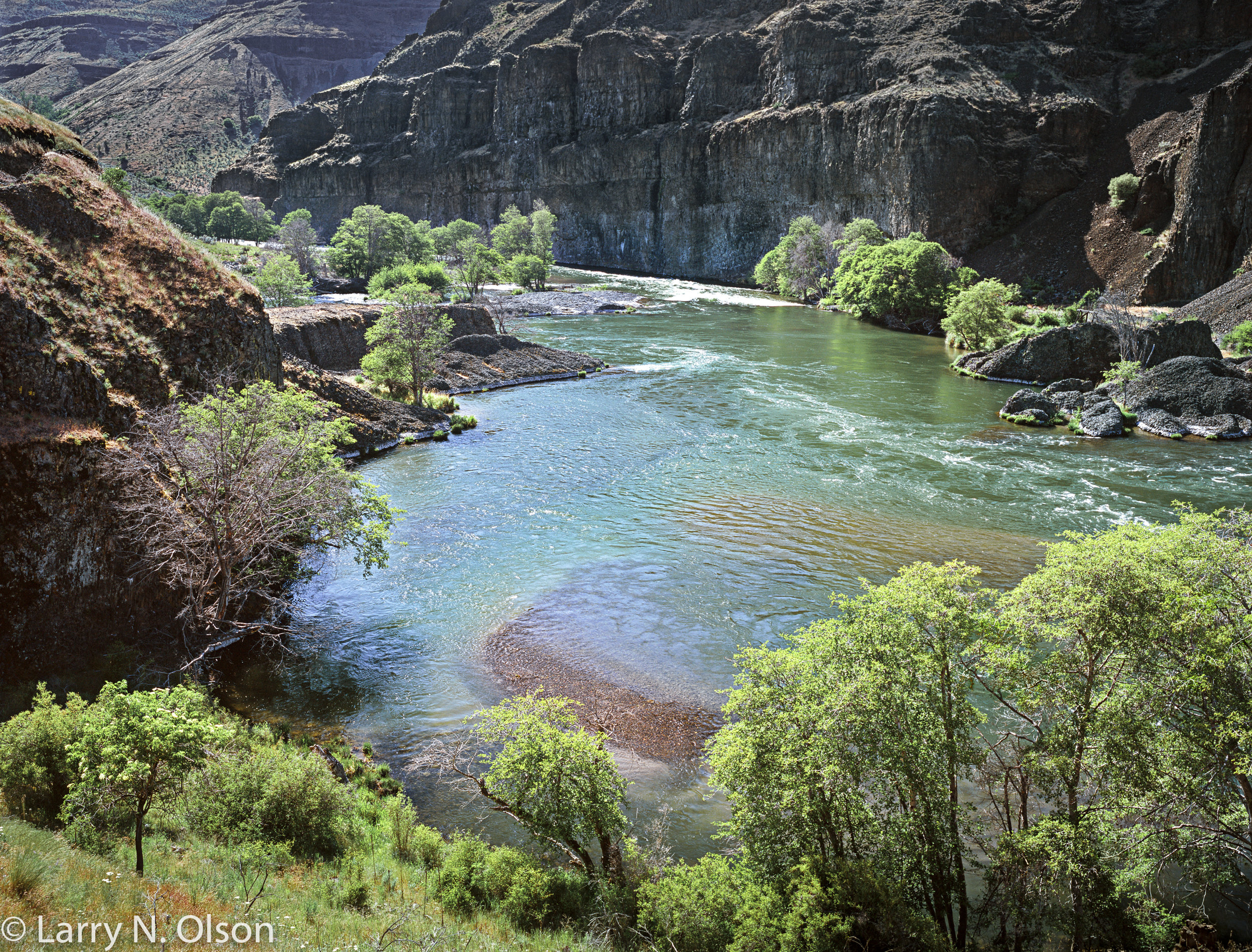 """Deschutes River,"" Photograph. Printed with permission on page 63 in   Honoring Our Rivers   Issue 18."