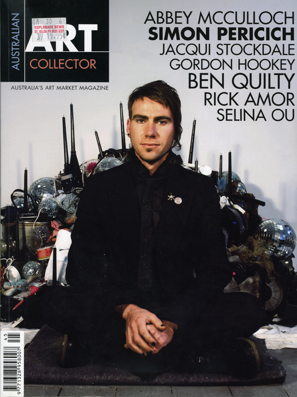 Australian Art Collector,  FUTURE NOIR.   Issue 45 July-September 2008   JEREMY KIBEL // MEREDITH TURNBULL