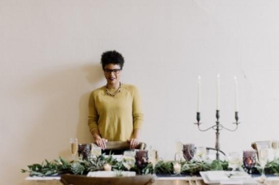 Photo of Dominique -Owner, Lead Designer + Stylist at Wood Violet Events + Styling Photo Credit:  April Zelenka