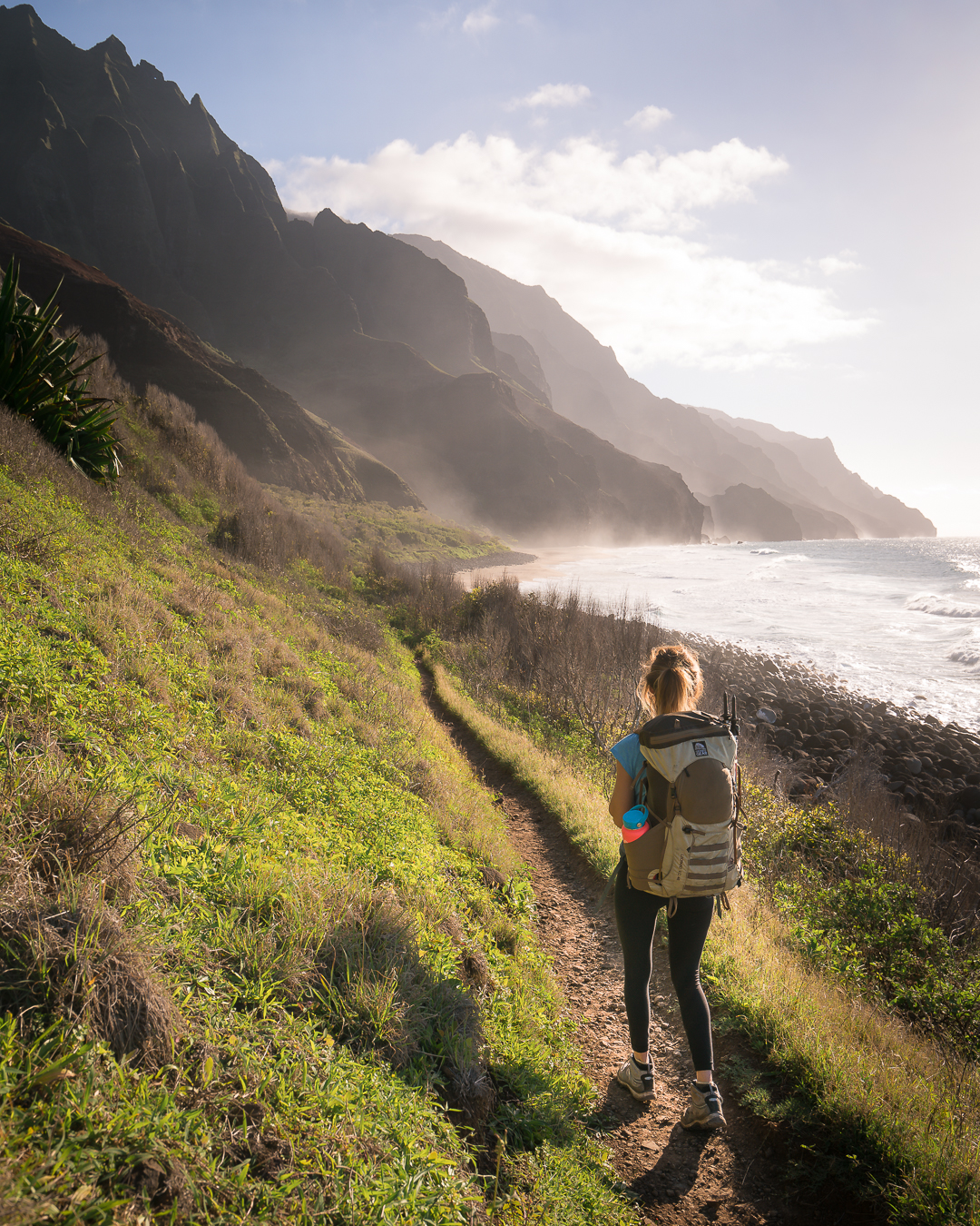 The final stretch of the Kalalau Trail before you reach Kalalau  Beach.