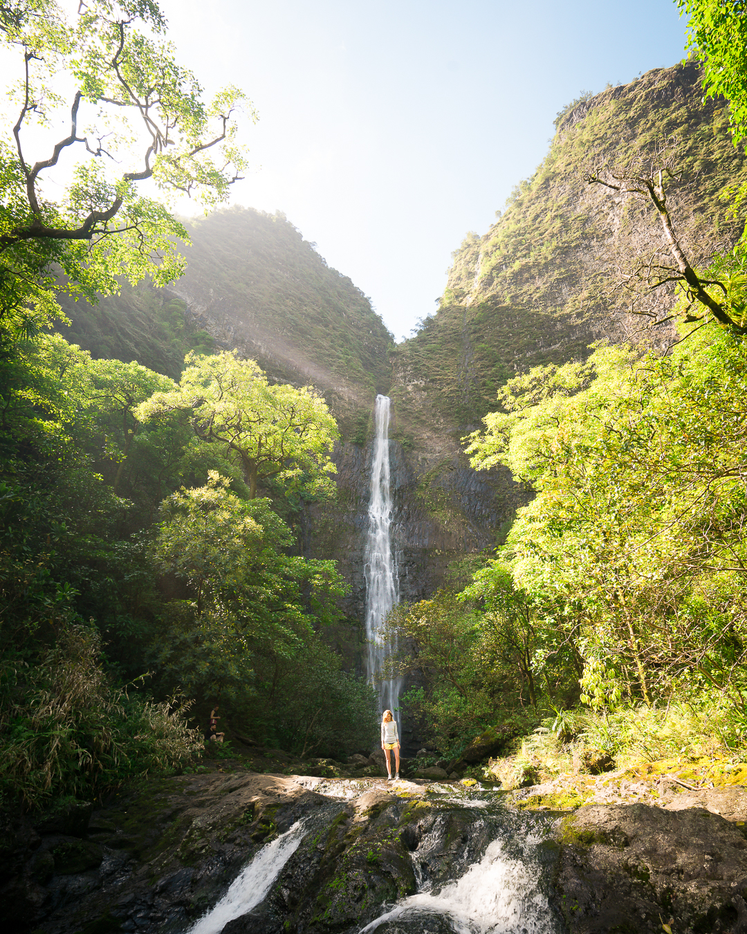 Hanakapi'ai Falls is an additional two miles up Hanakapi'ai Valley.