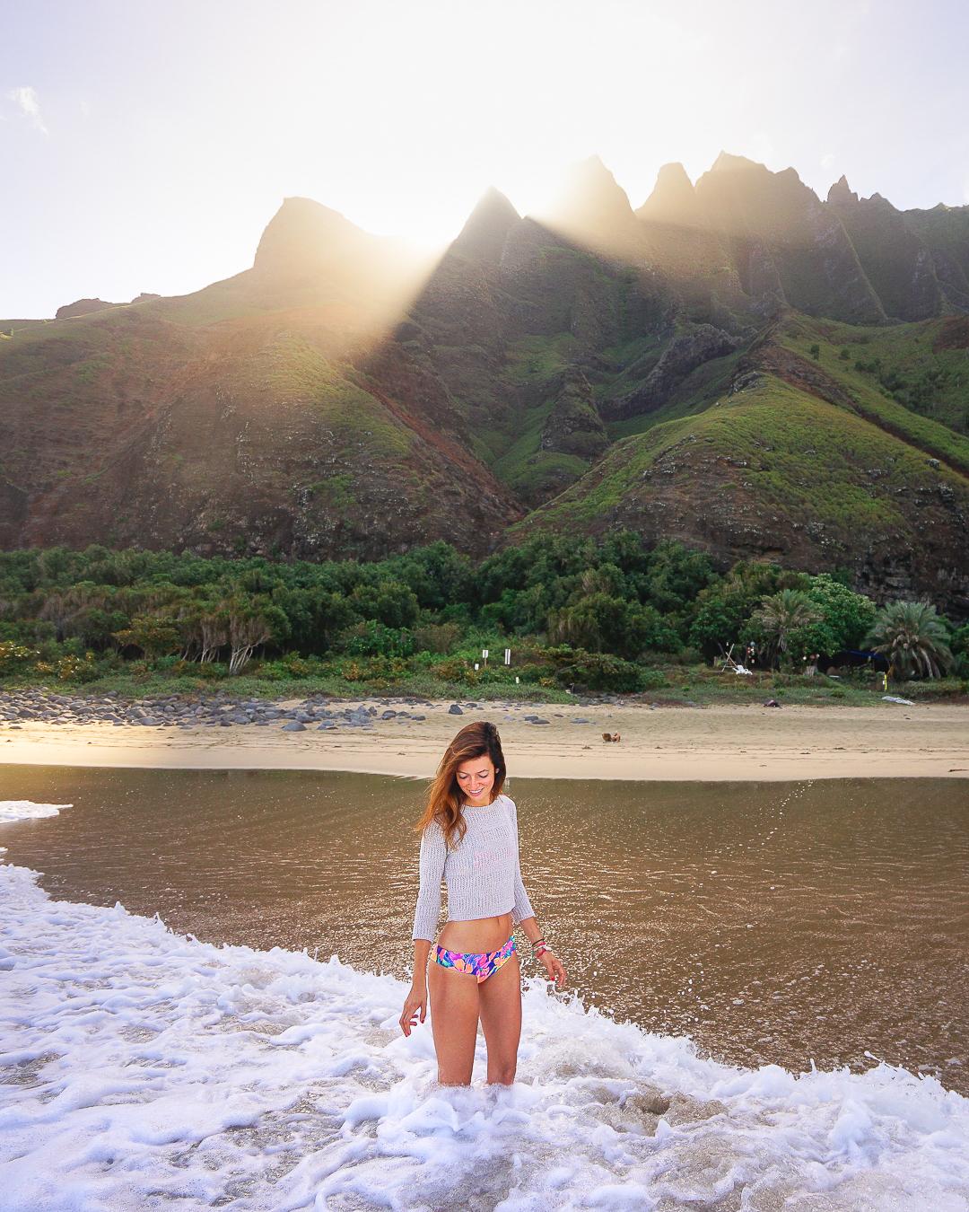 Kalalau Beach in Kauai.