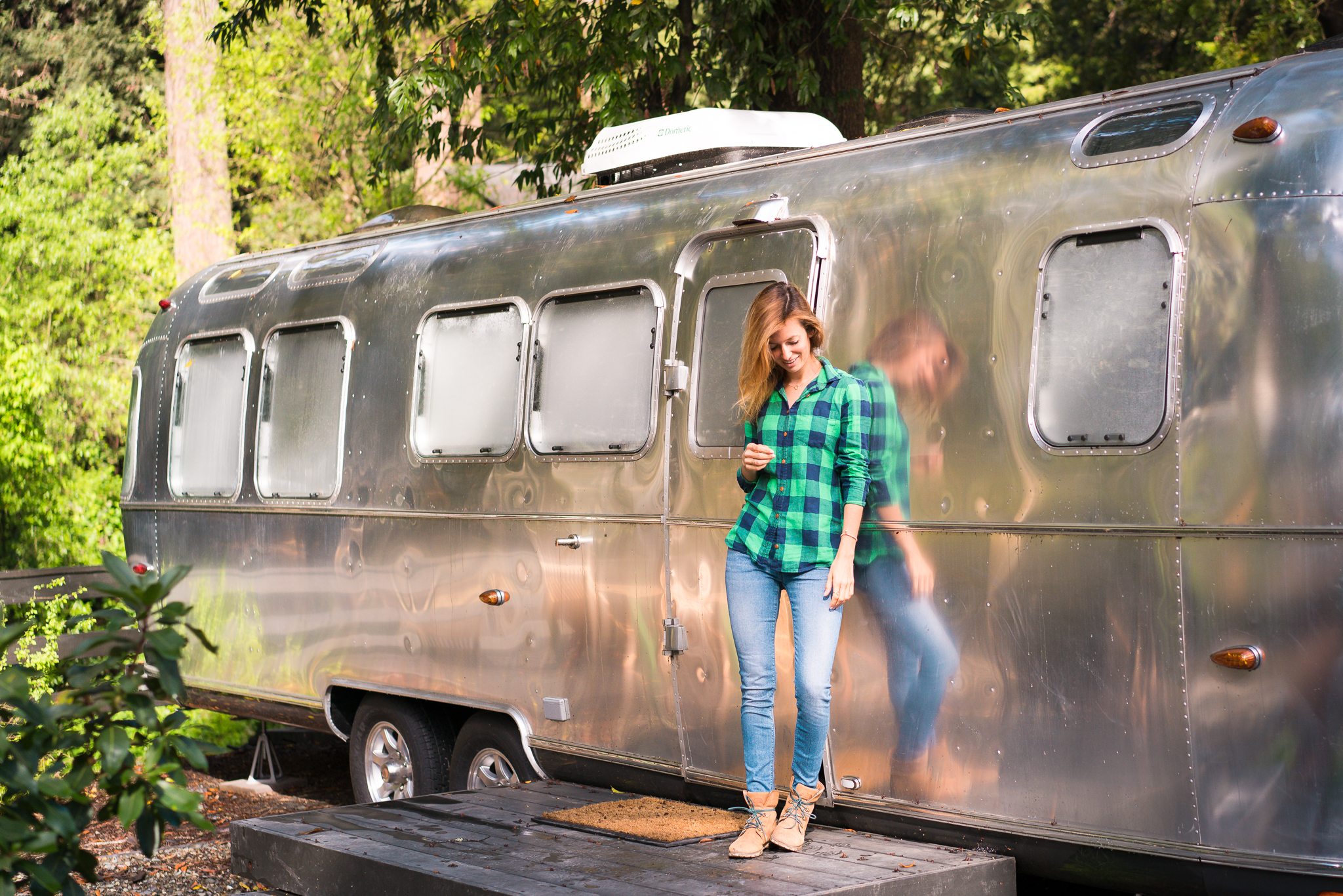 My Airstream home while I stayed at AutoCamp Russian River.