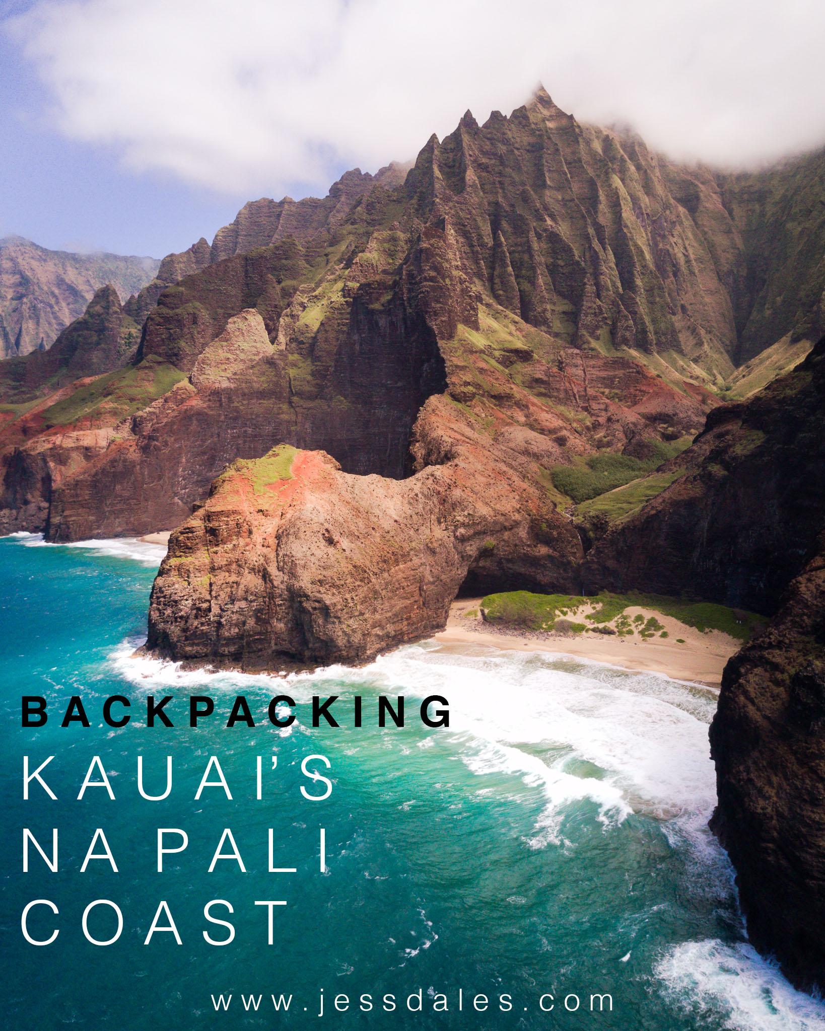 Hiking The Kalalau Trail along Kauai's Na Pali Coast.