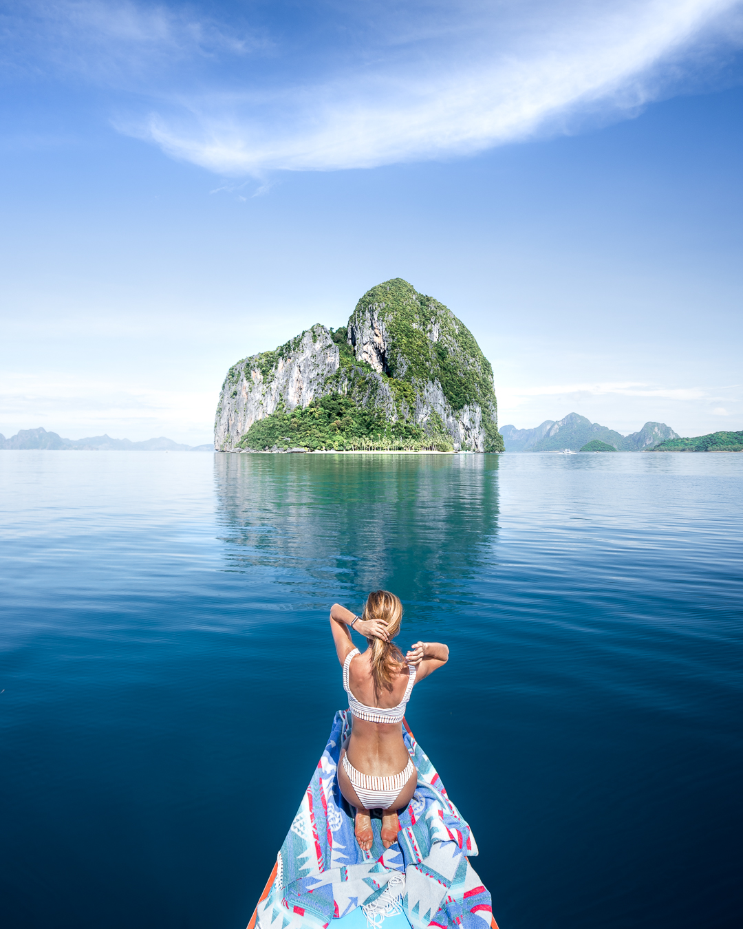 Island hopping around El Nido, Palawan in the Philippines. Photo: Quin Schrock