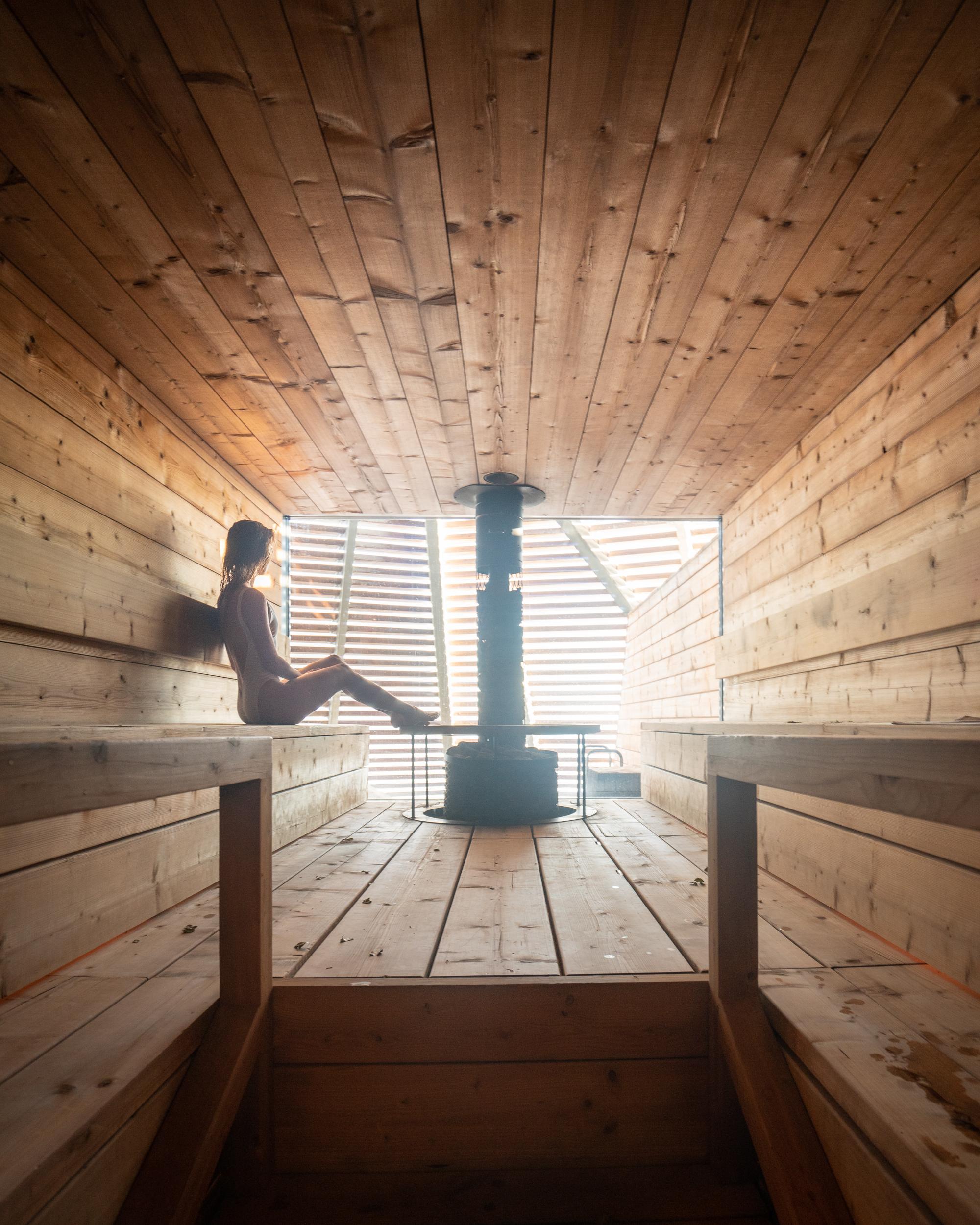 One of the saunas at   Löyly Helsinki