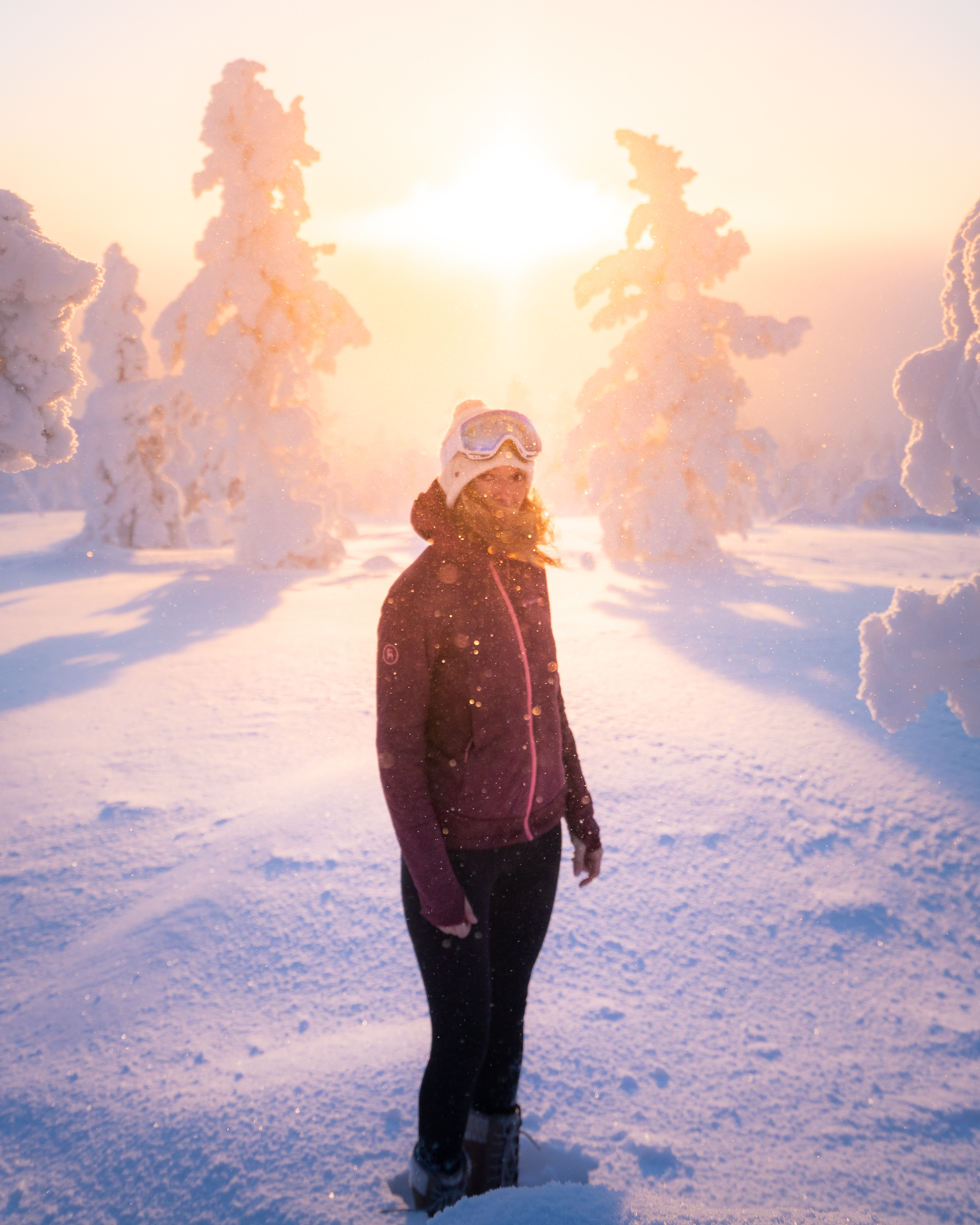 Wearing Back Country's    Cirque Insulated Jacket   ,    Sundial Tight   , & The North Face    Shellista Boot   .