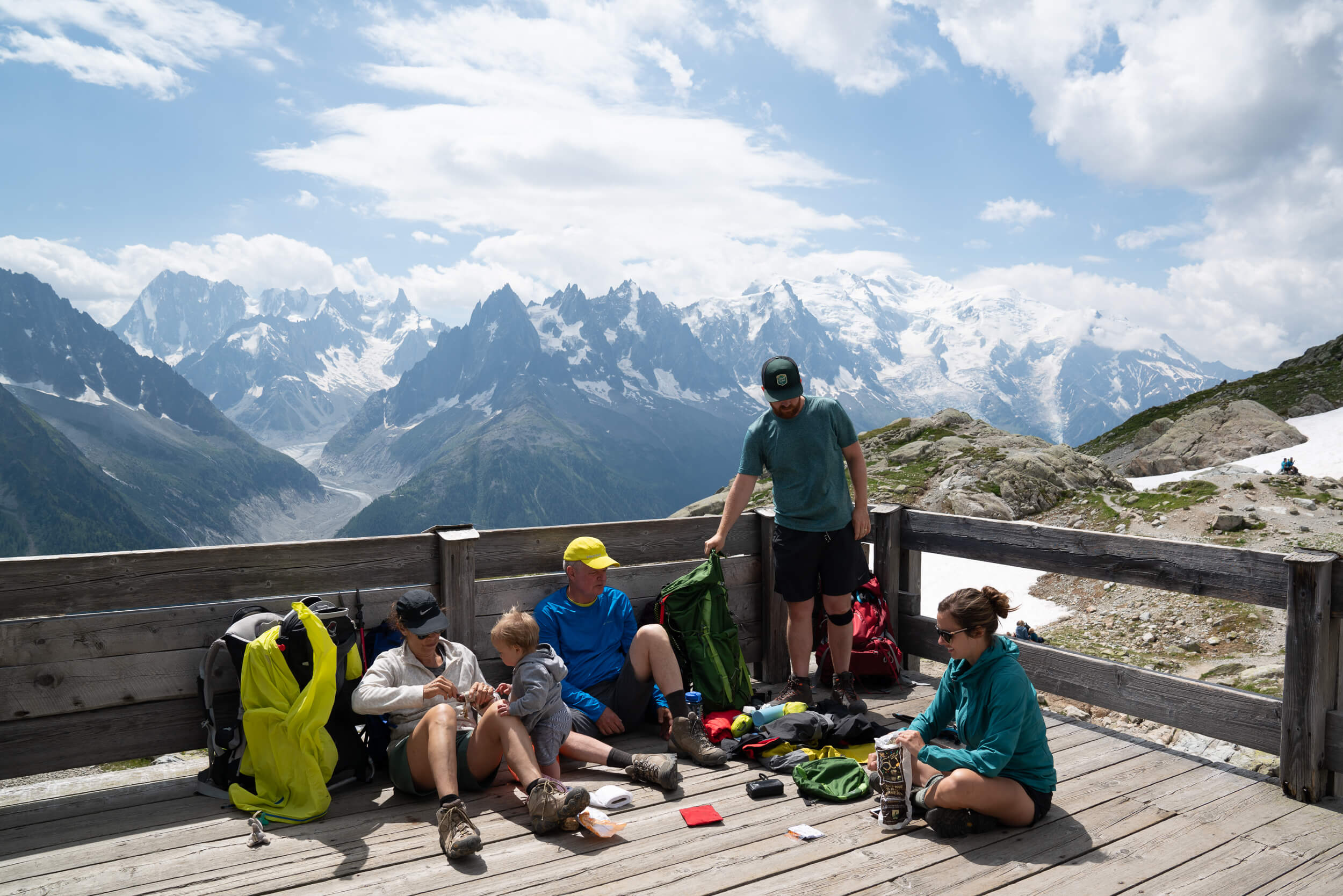 There's no shortage of epic places to stop for a snack along the Tour du Mont Blanc!