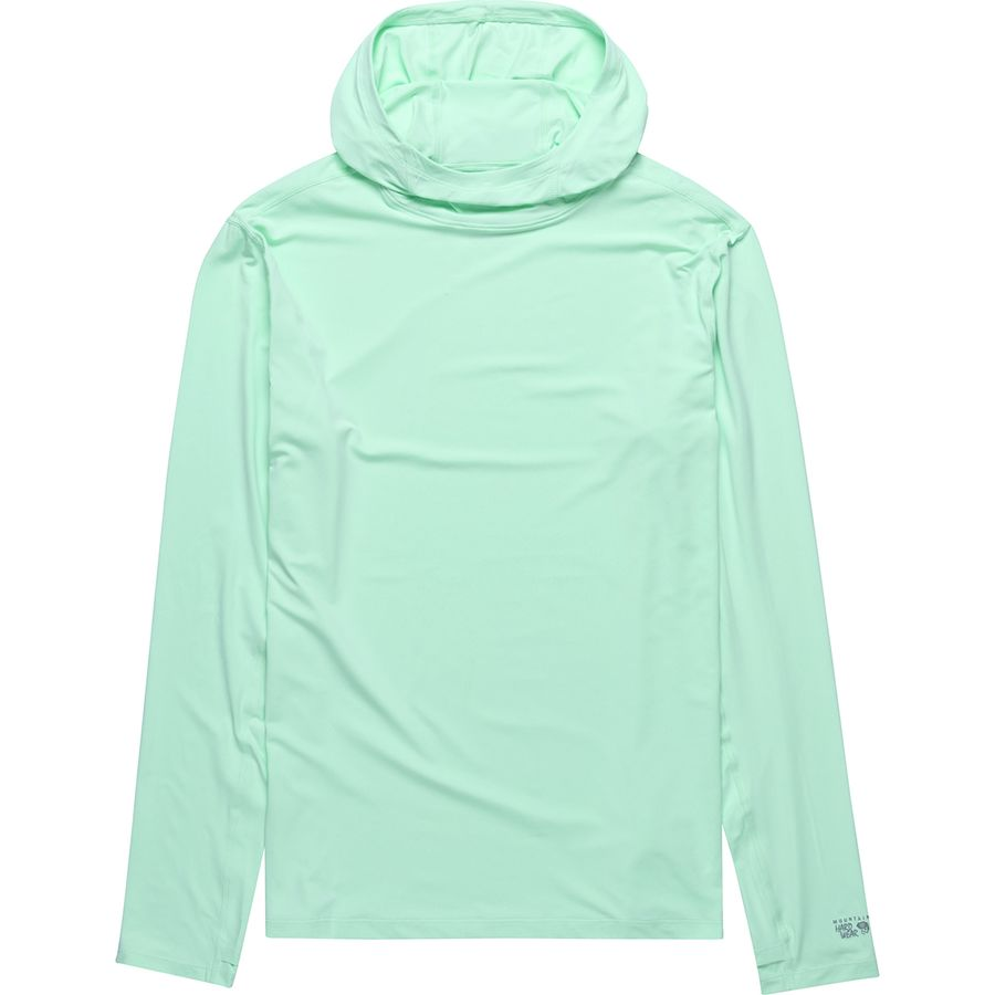 Sun Protection - You'd be hard pressed to find a more comfortable piece of clothing than Mountain Hardwear's Crater Lake Long-Sleeve Hoody. It can be warn next to skin, or over a base layer and will protect you not only from light precipitation, and breeze, but also sun exposure. Comes in Mens and Womens.