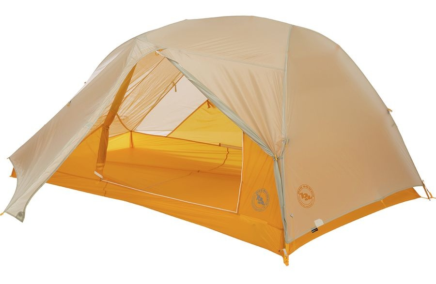 Tent - I purchased the Big Agnes Tiger Wall UL2 Tent for this upcoming camping season. I've only had the opportunity to take it on a few backpacking trips so far - but I'm loving it! The Tiger Wall has two doors and two vestibules, double-wall construction, and a hassle-free pitch. For a completely freestanding option I own the Big Agnes Copper Spur HV UL3. Ultra-light two person tents are pretty small, and there's not a lot of room to spread out, so I like to take the 3 person tent on trips when I want extra storage, I'm not super comfortable snuggling with my tent partner, or I'm going to be spending a lot of time in the tent. The Tiger Wall also comes in a 3 person option!