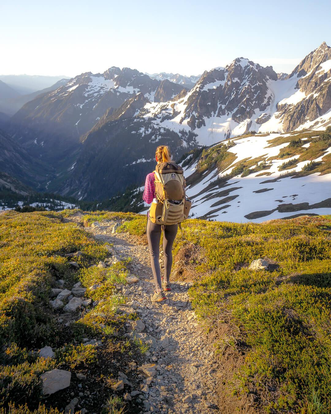 The hike up to Sahale Arm after Cascade Pass.