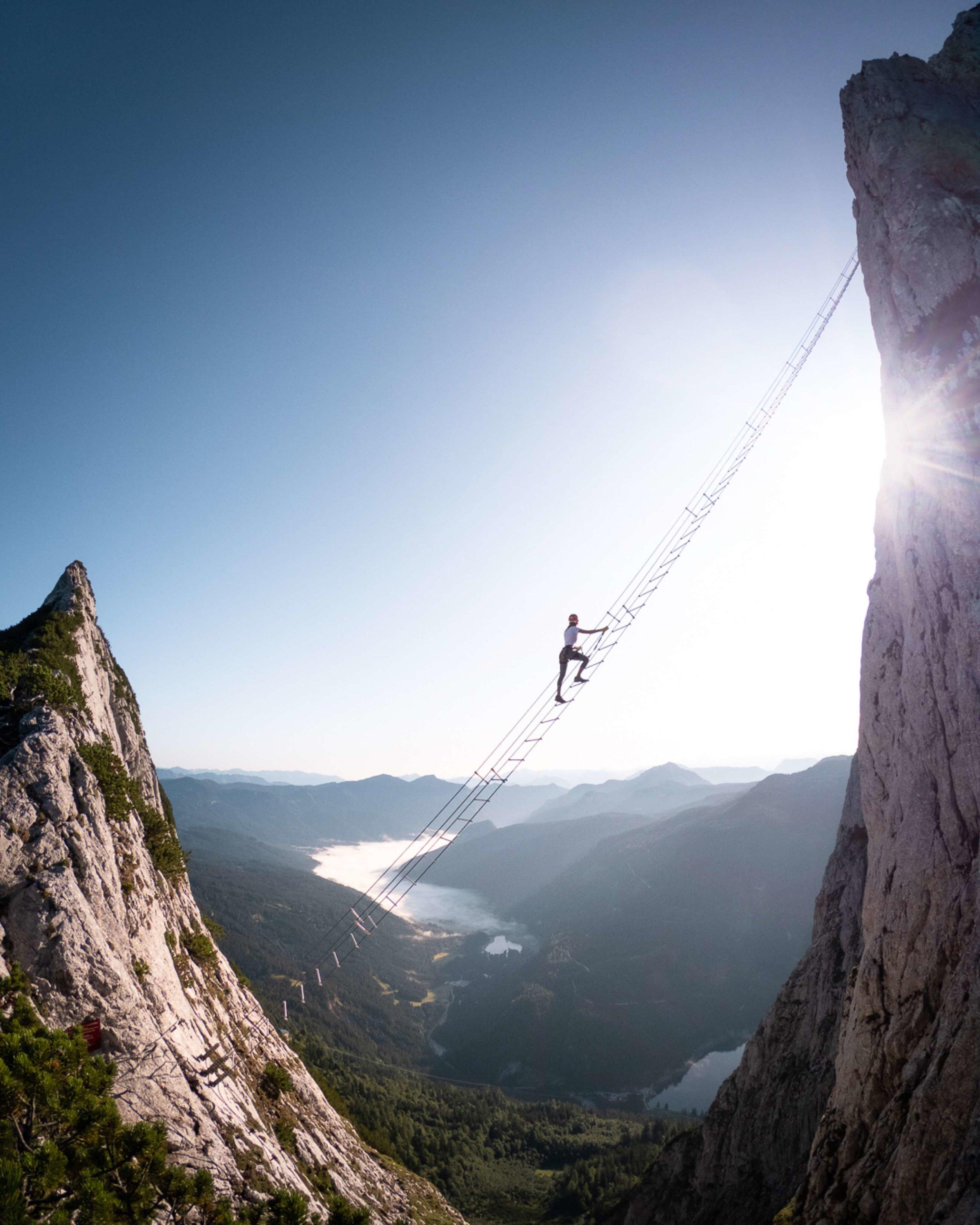Ladder to Heaven via ferrata in Austria
