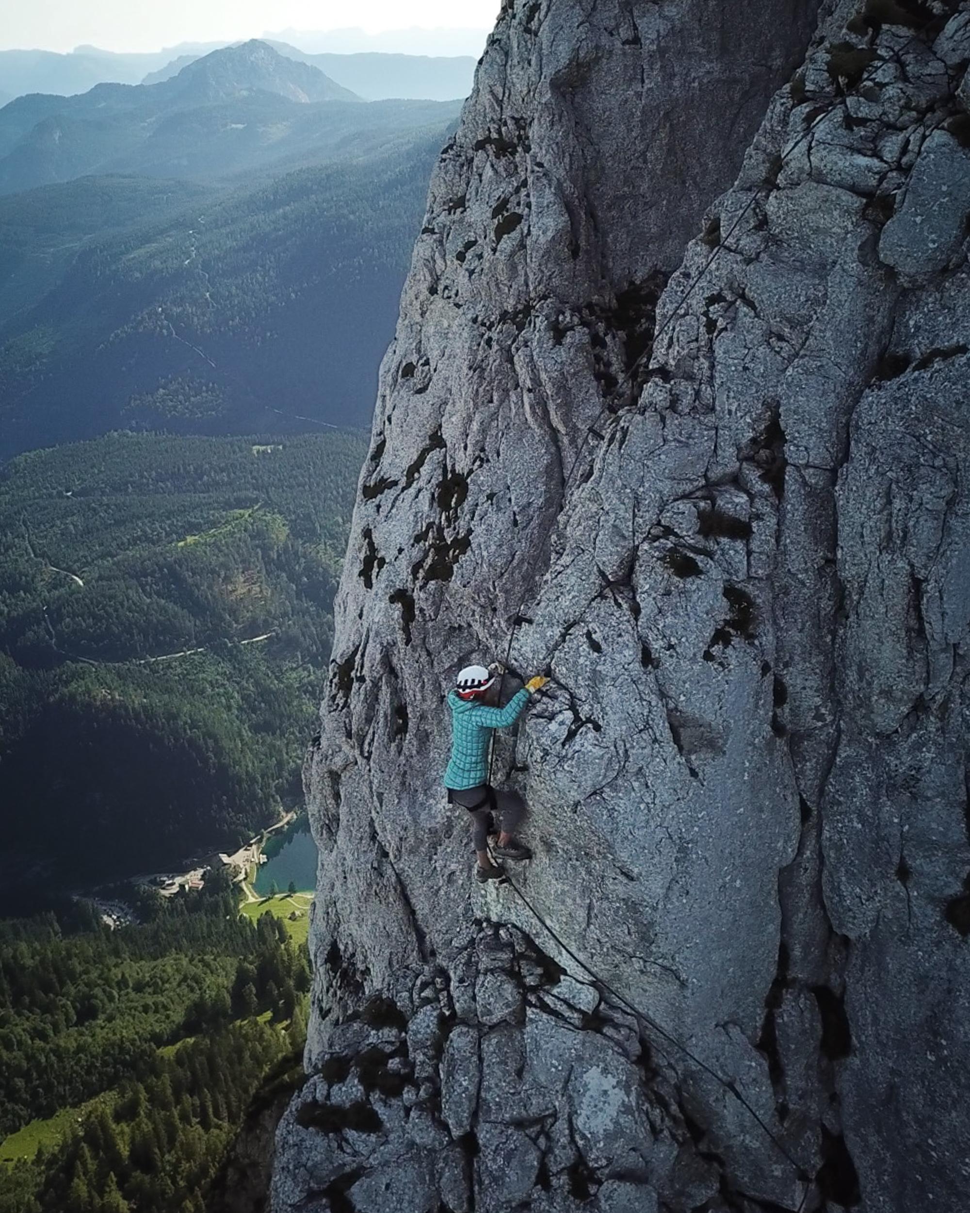 Jess Wandering on Austrian via ferrata