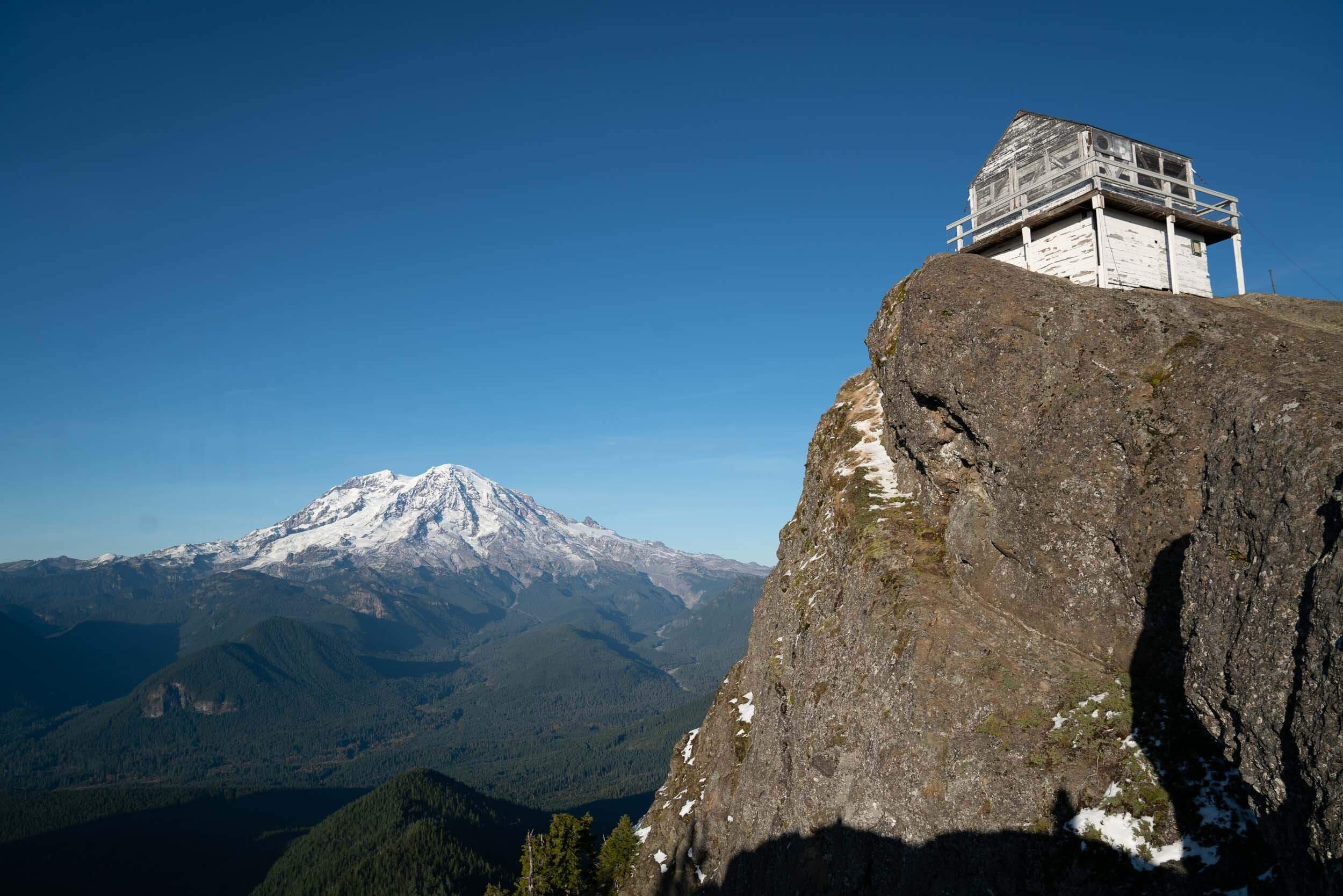 High Rock Lookout has beautiful views of Mount Rainier.