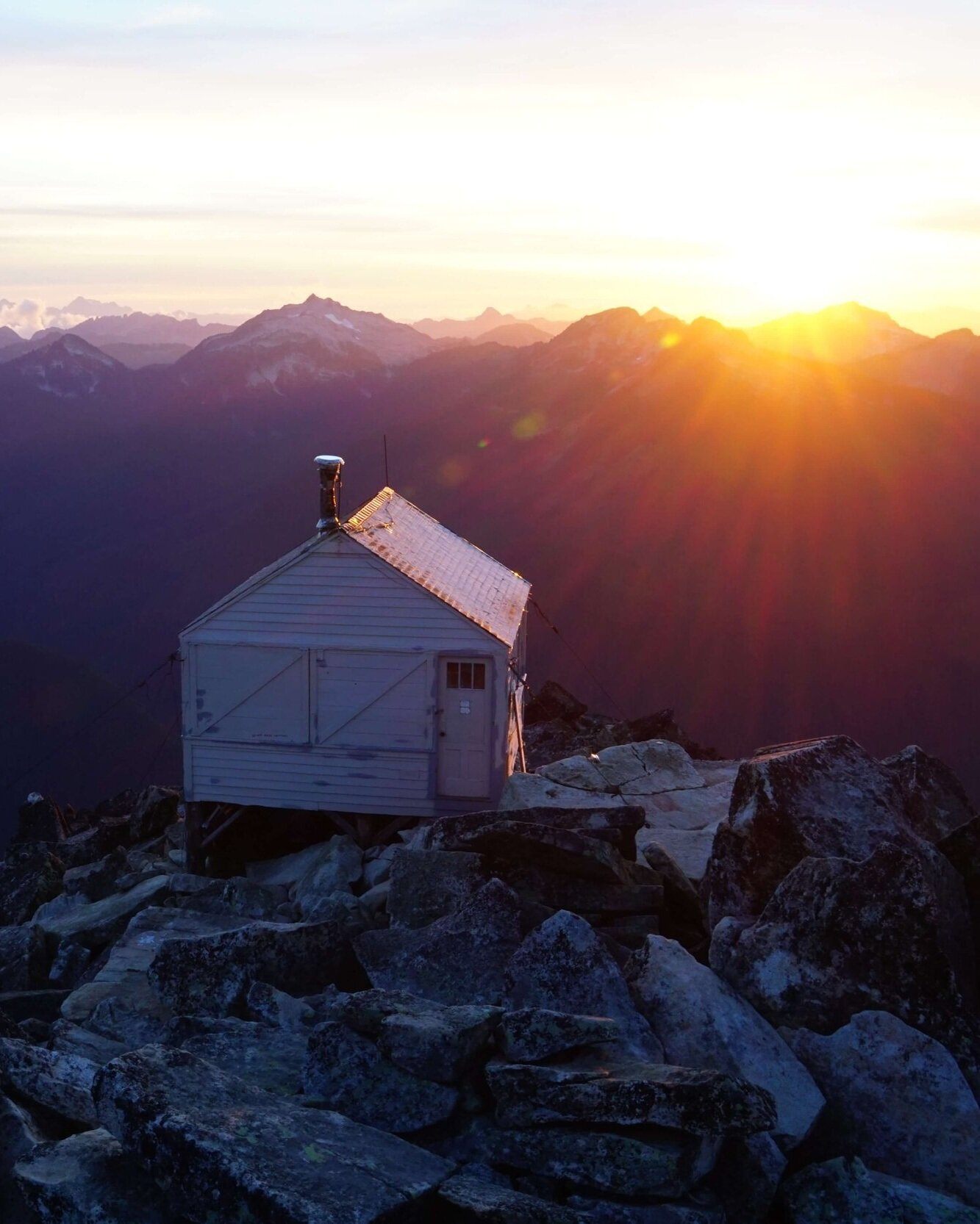 Hidden Lake Lookout is located just outside the boundary for the North Cascades National Park.