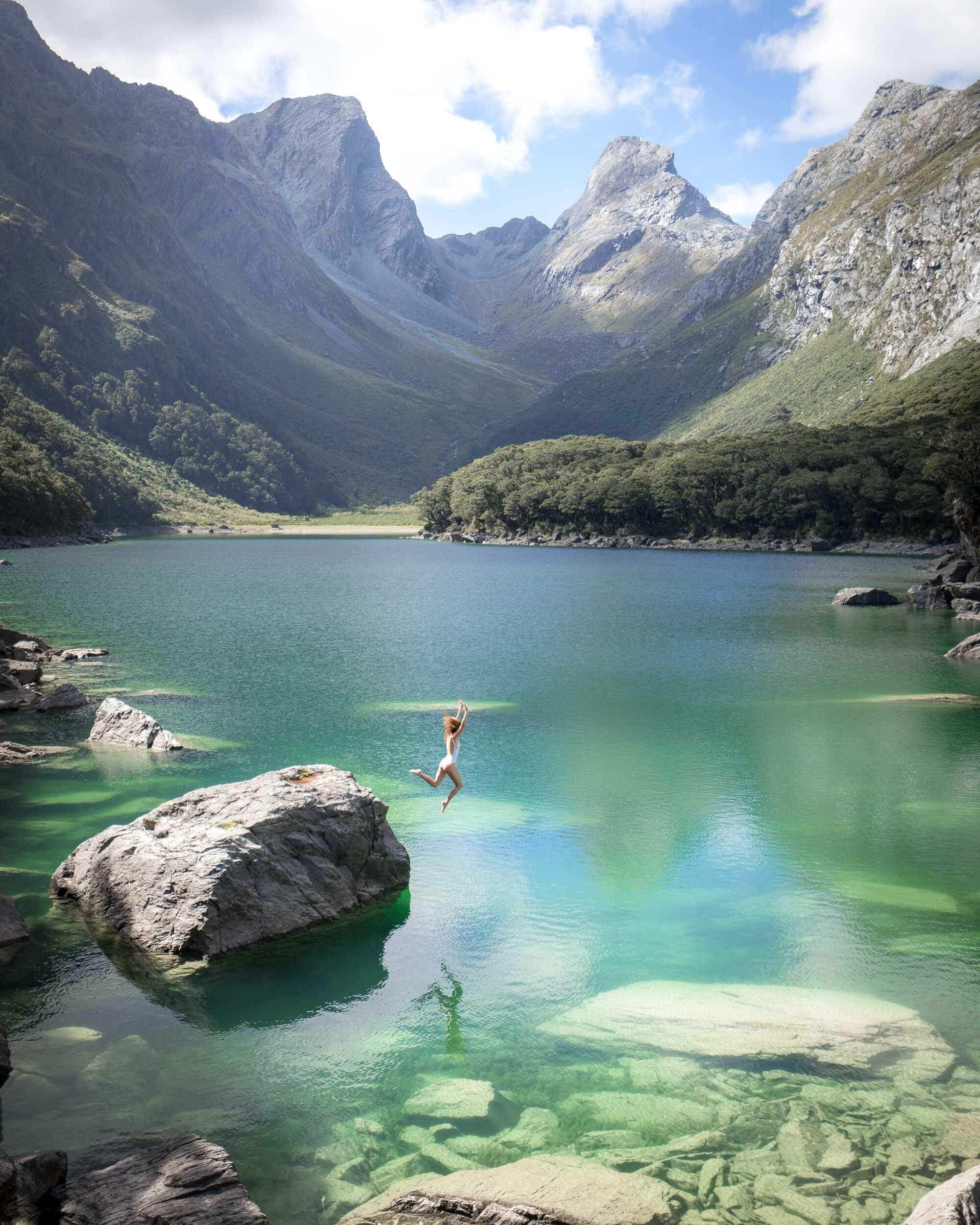 Lake Mackenzie is part of the famous Routeburn Track in New Zealand.