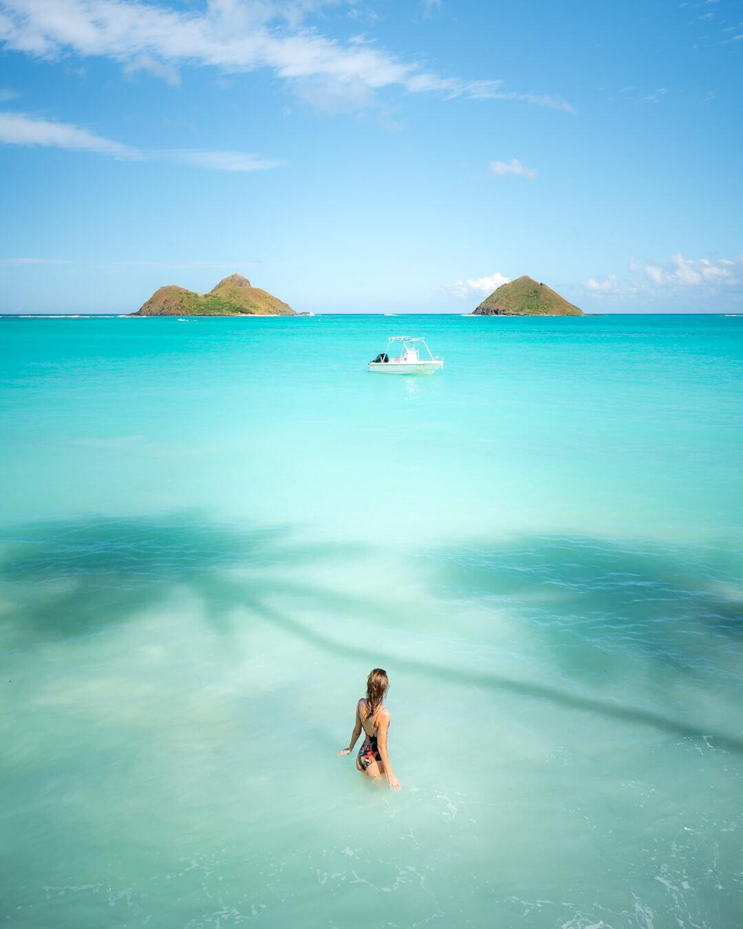 Lanikai Beach on Oahu, Hawaii.