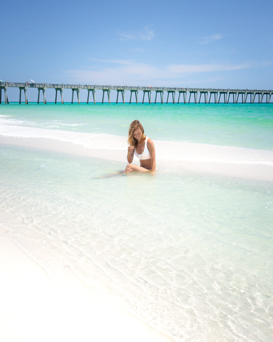 Hanging out in the sun at Pensacola Beach, Florida.